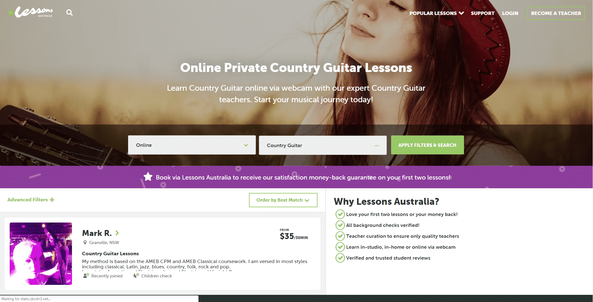 Lessons Australia – Online Country Music Lessons