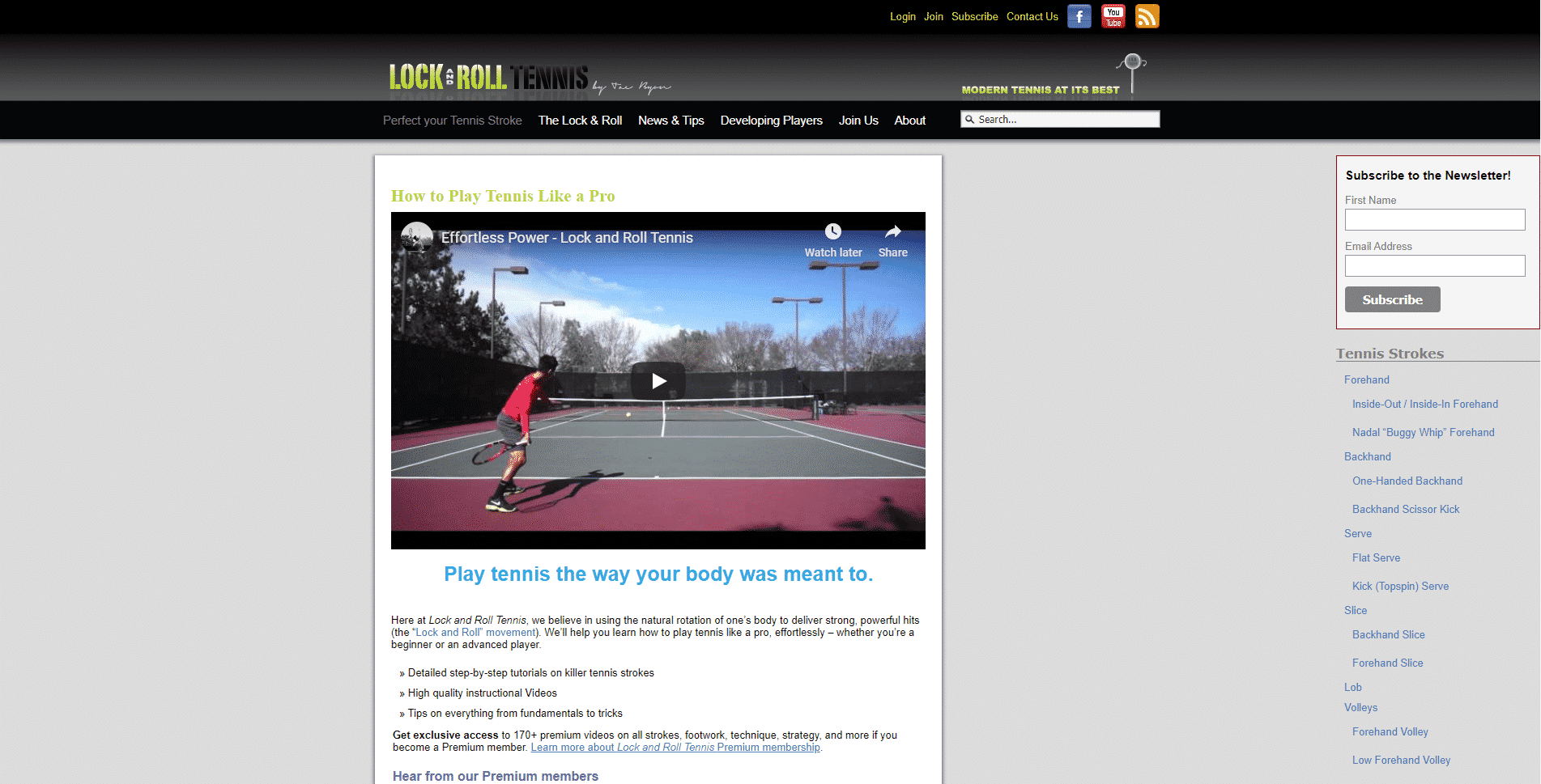 Lock and Roll Tennis Lessons