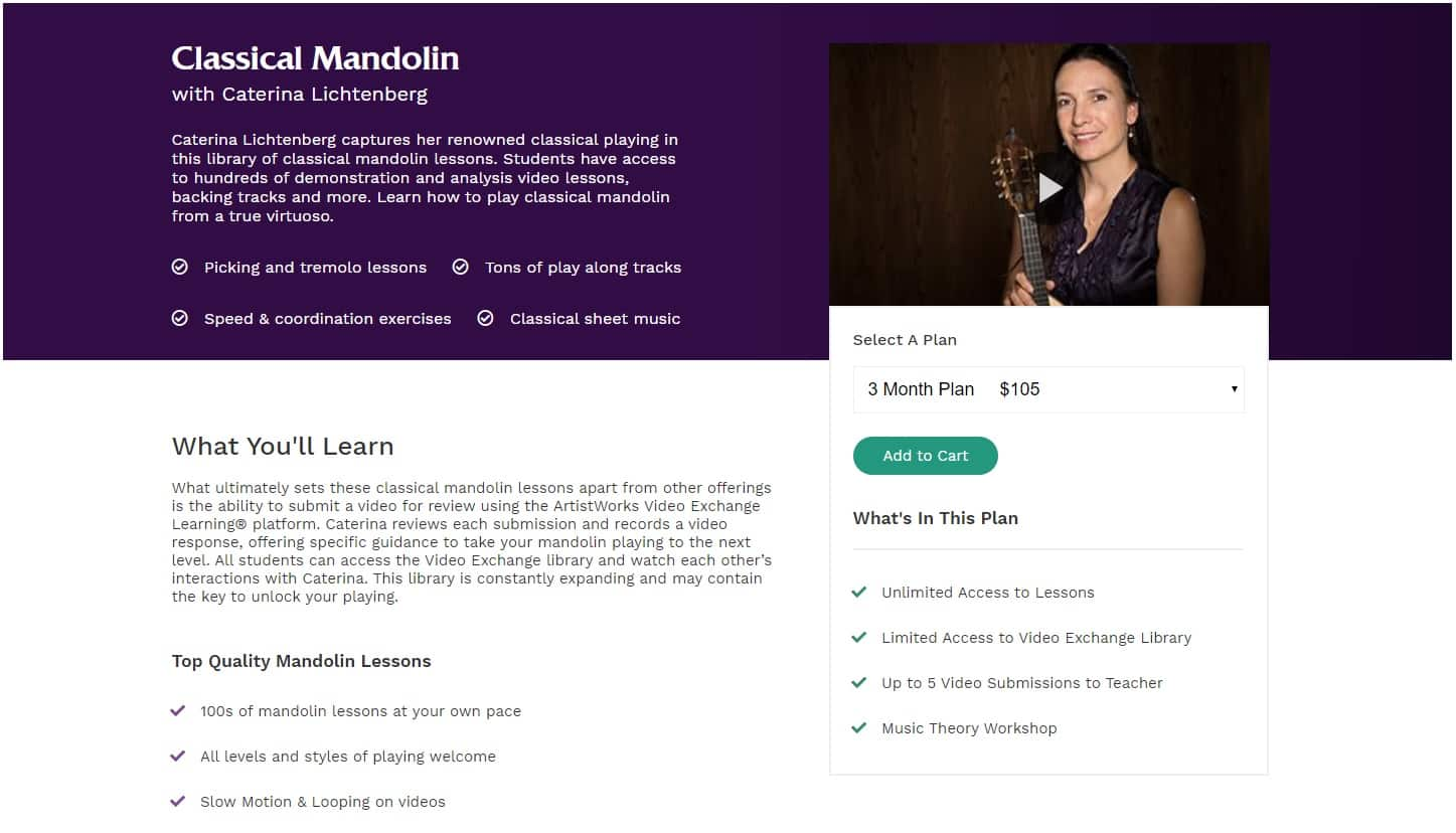 Mandolin with Caterina Lichtenberg