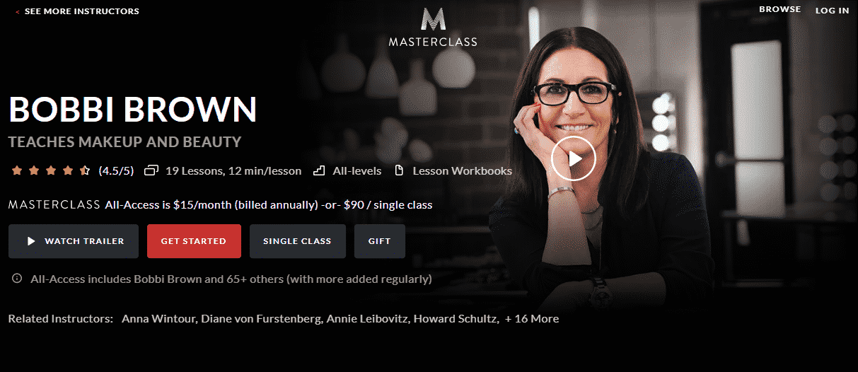 MasterClass Bobbi Brown Learn Makeup and Beauty Lessons Online