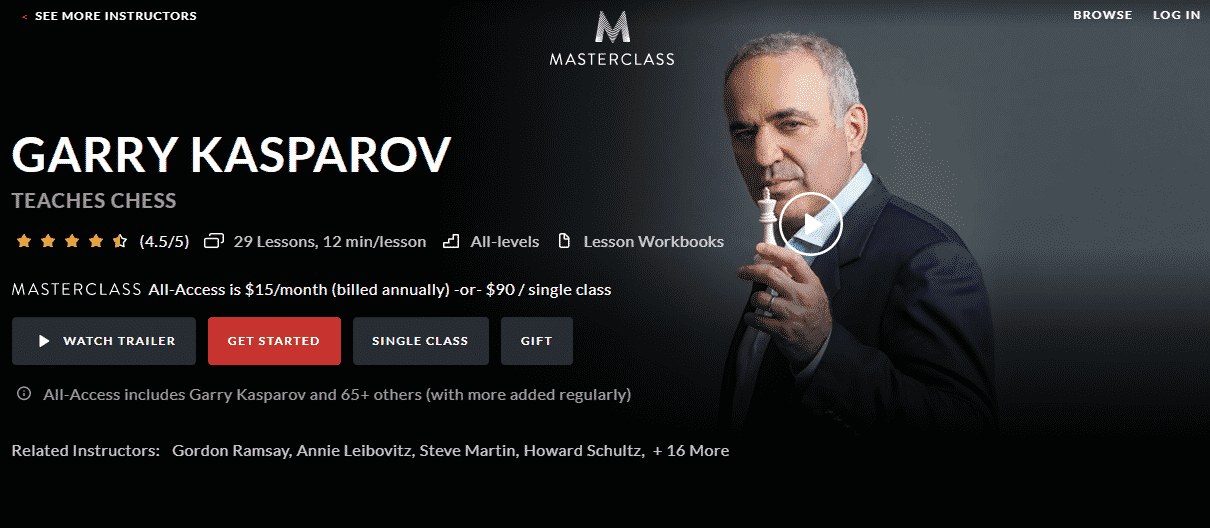 MasterClass Learn Chess Lessons Online