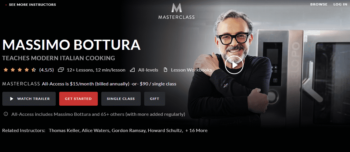 MasterClass Massimo Bottura Learn Cooking Lessons Online
