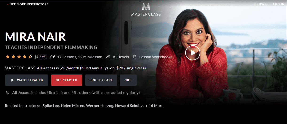 MasterClass Mira Nair Learn Filmmaking Lessons Online