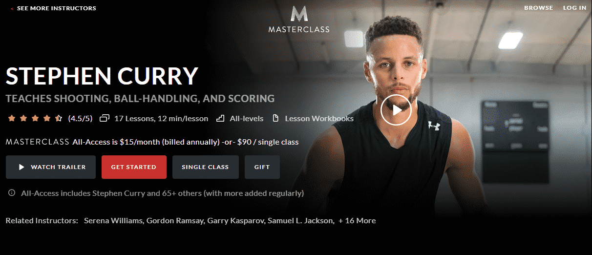 MasterClass Stephen Curry Learn Basketball Lessons Online