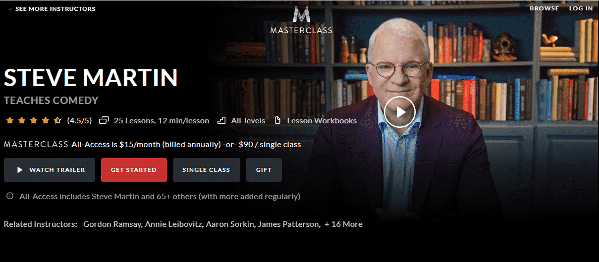 MasterClass Steve Martin Learn Comedy Lessons Online