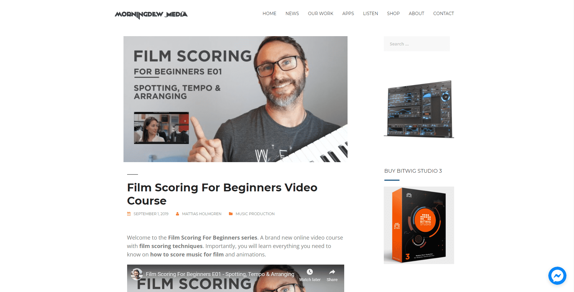 Morningdewmedia Learn Film Scoring Lessons Online