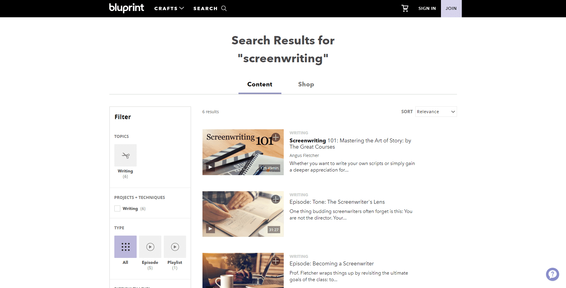 MyBluprint Learn Screenwriting Lessons Online
