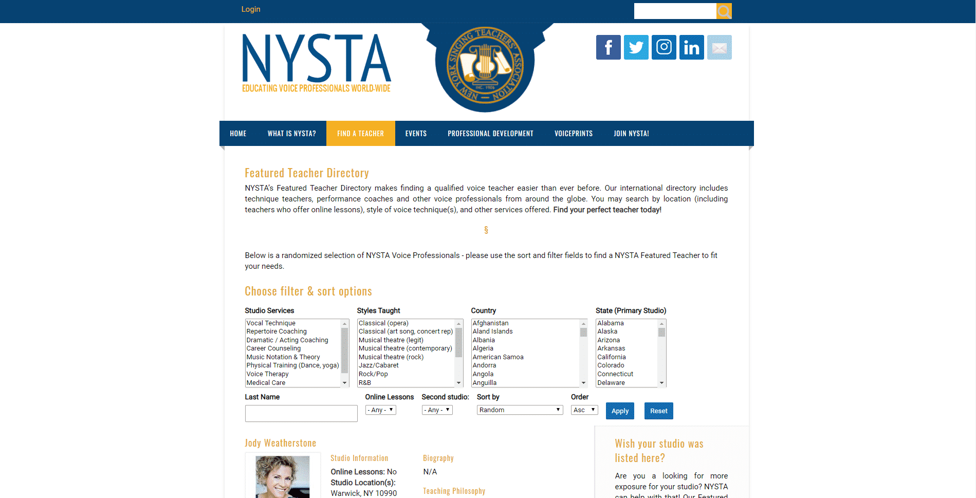 NYSTA – Online Country Music Lessons