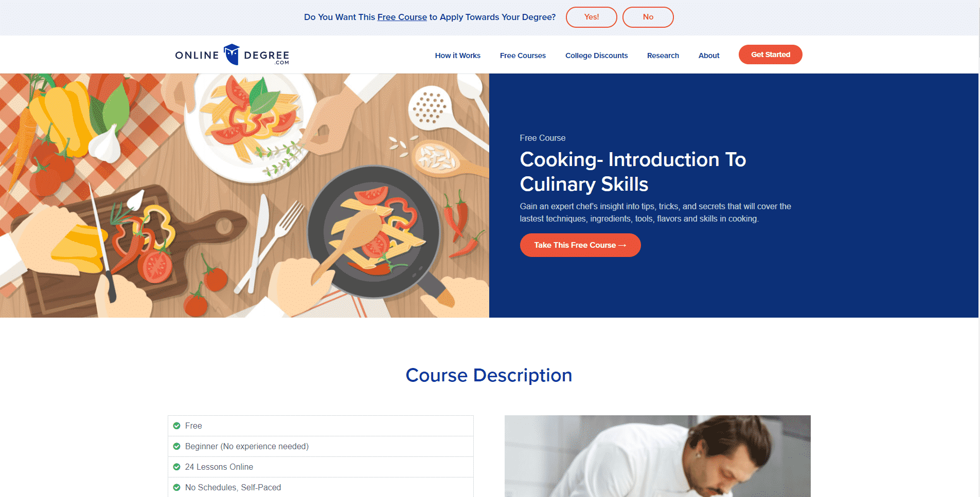 Online degree Learn Cooking Lessons Online