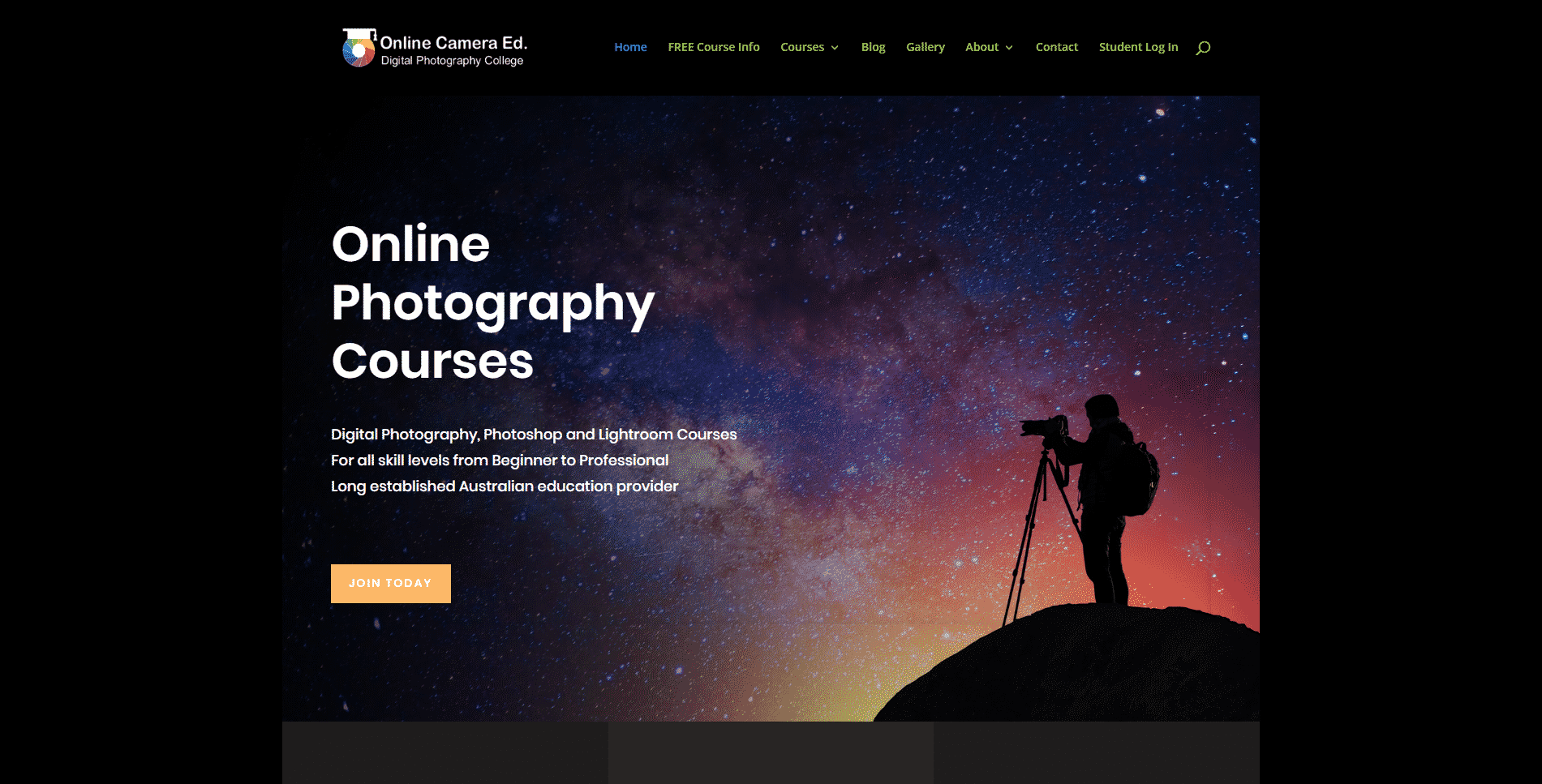 Onlinecameraed.com Learn Photography Lessons Online