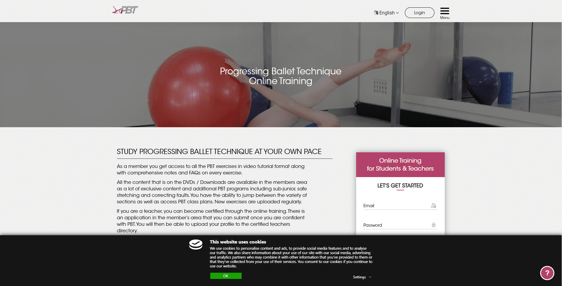 PROGRESSING BALLET TECHNIQUE (P.B.T).