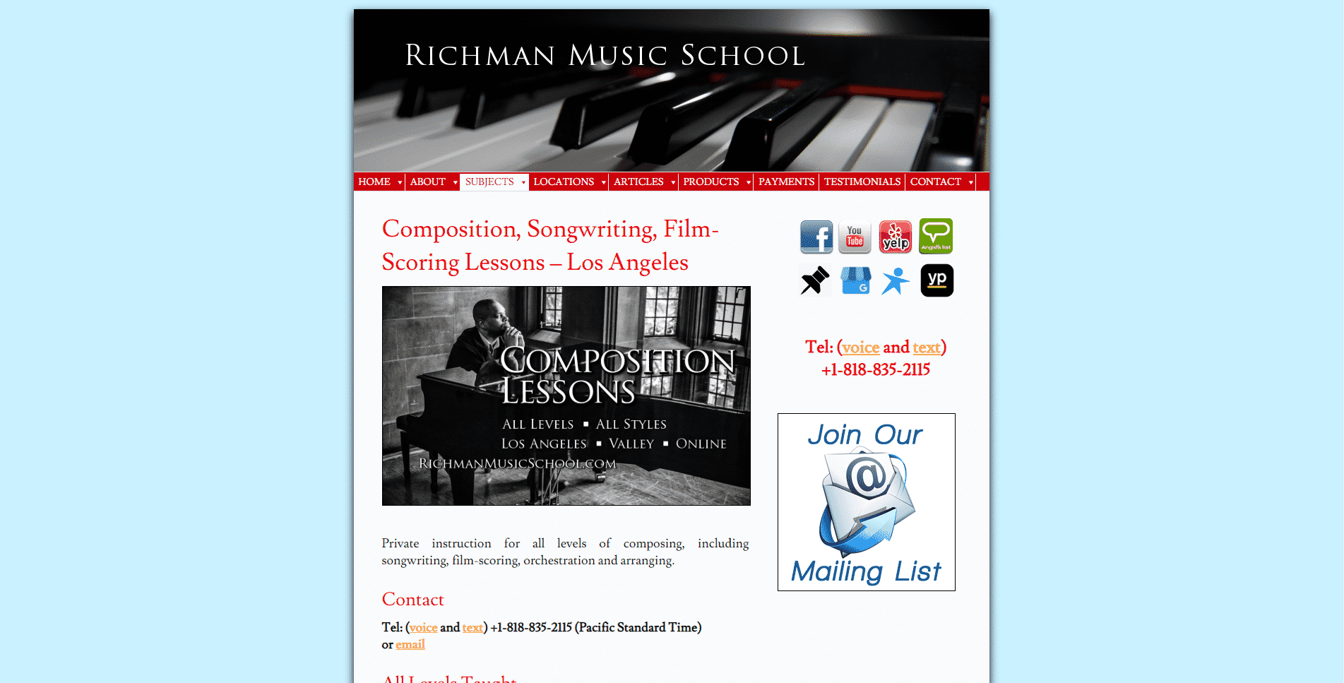 Richman Music School Learn Film Scoring Lessons Online