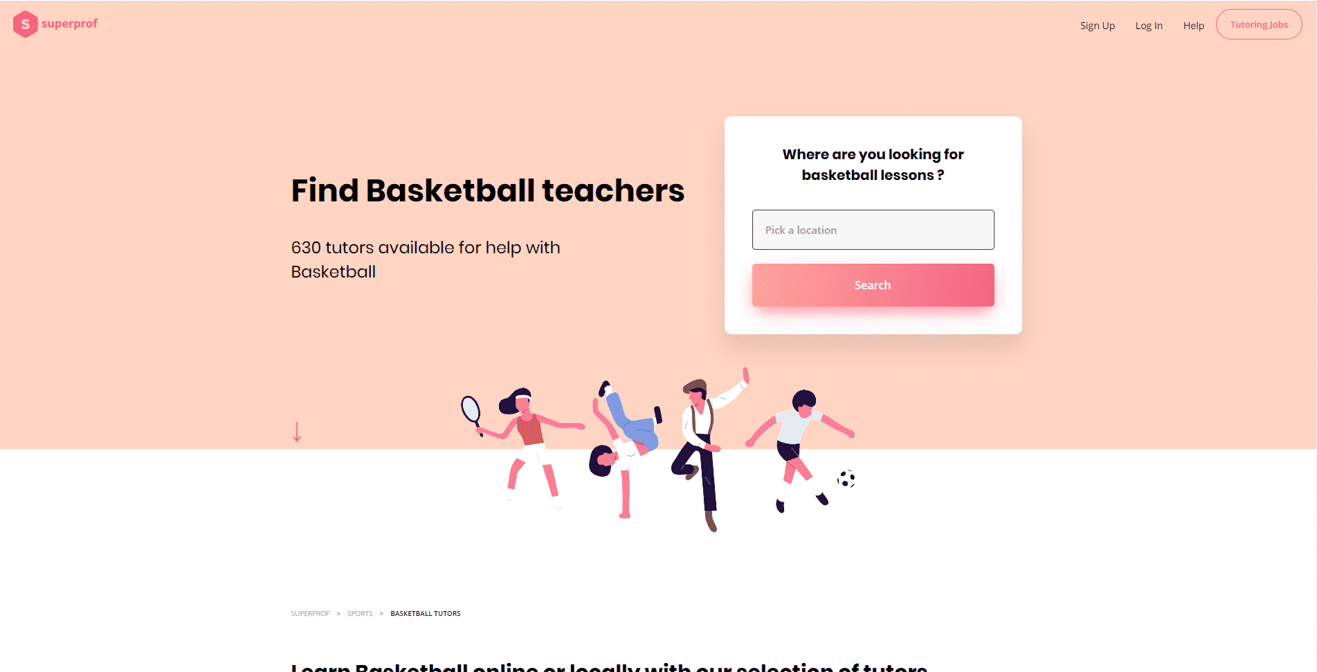 SUPER PROF- BASKETBALL LESSONS