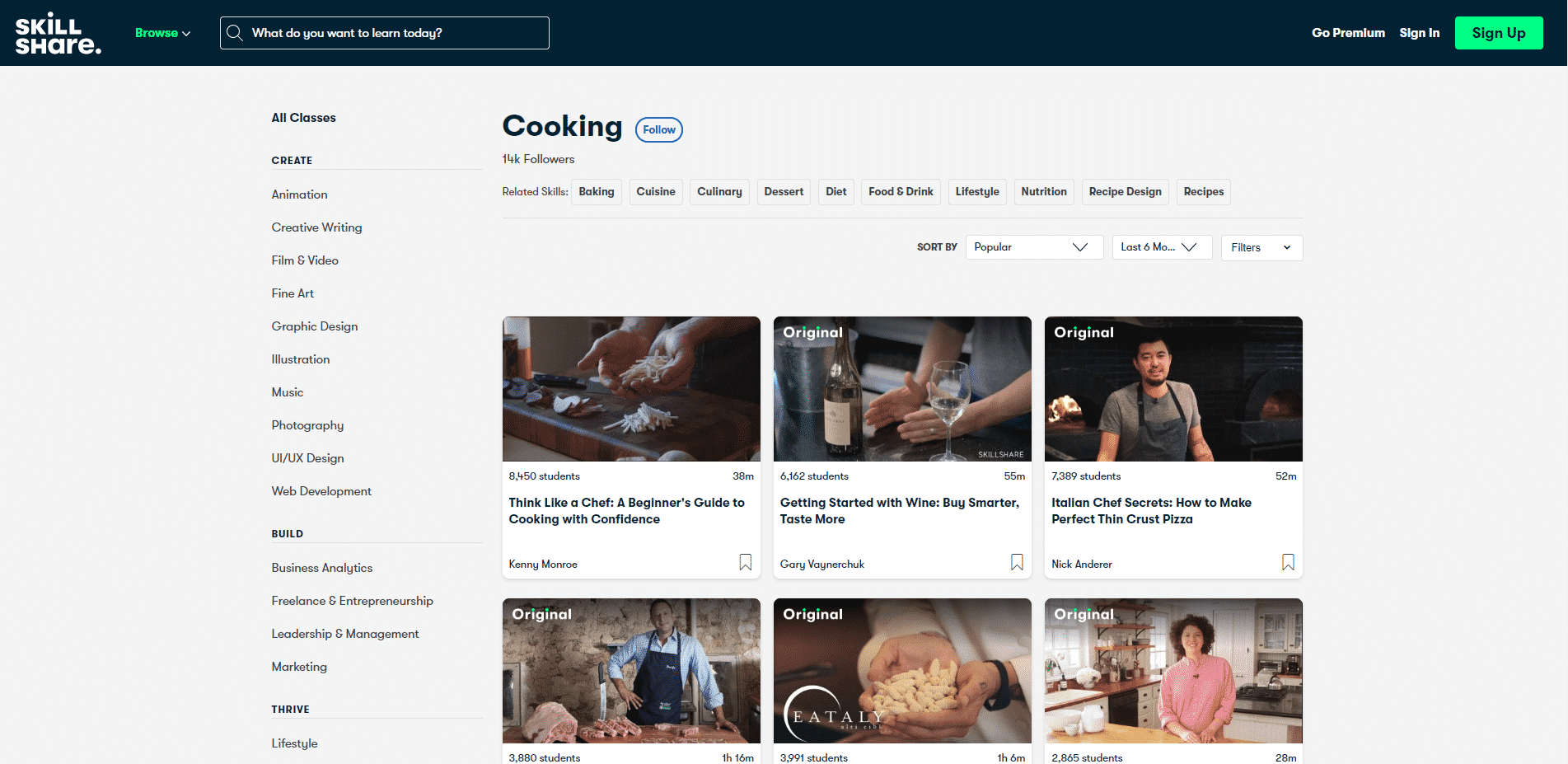 Skill Share Learn Cooking Lessons Online