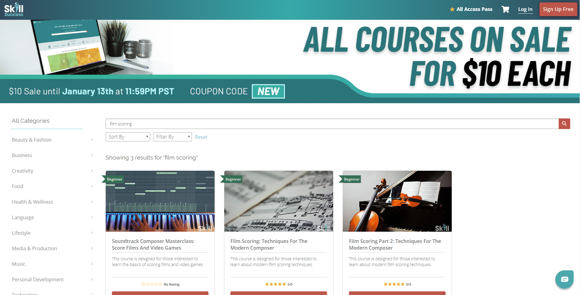 Skill Success Learn Film Scoring Lessons Online