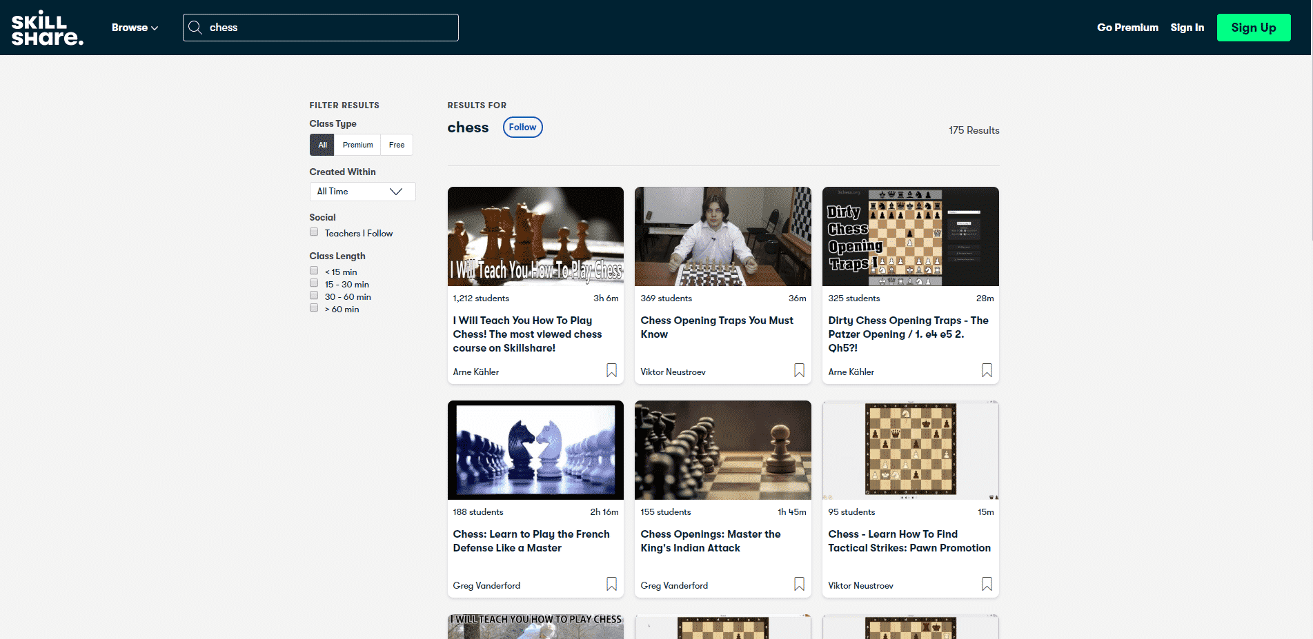SkillShare Learn Chess Lessons Online