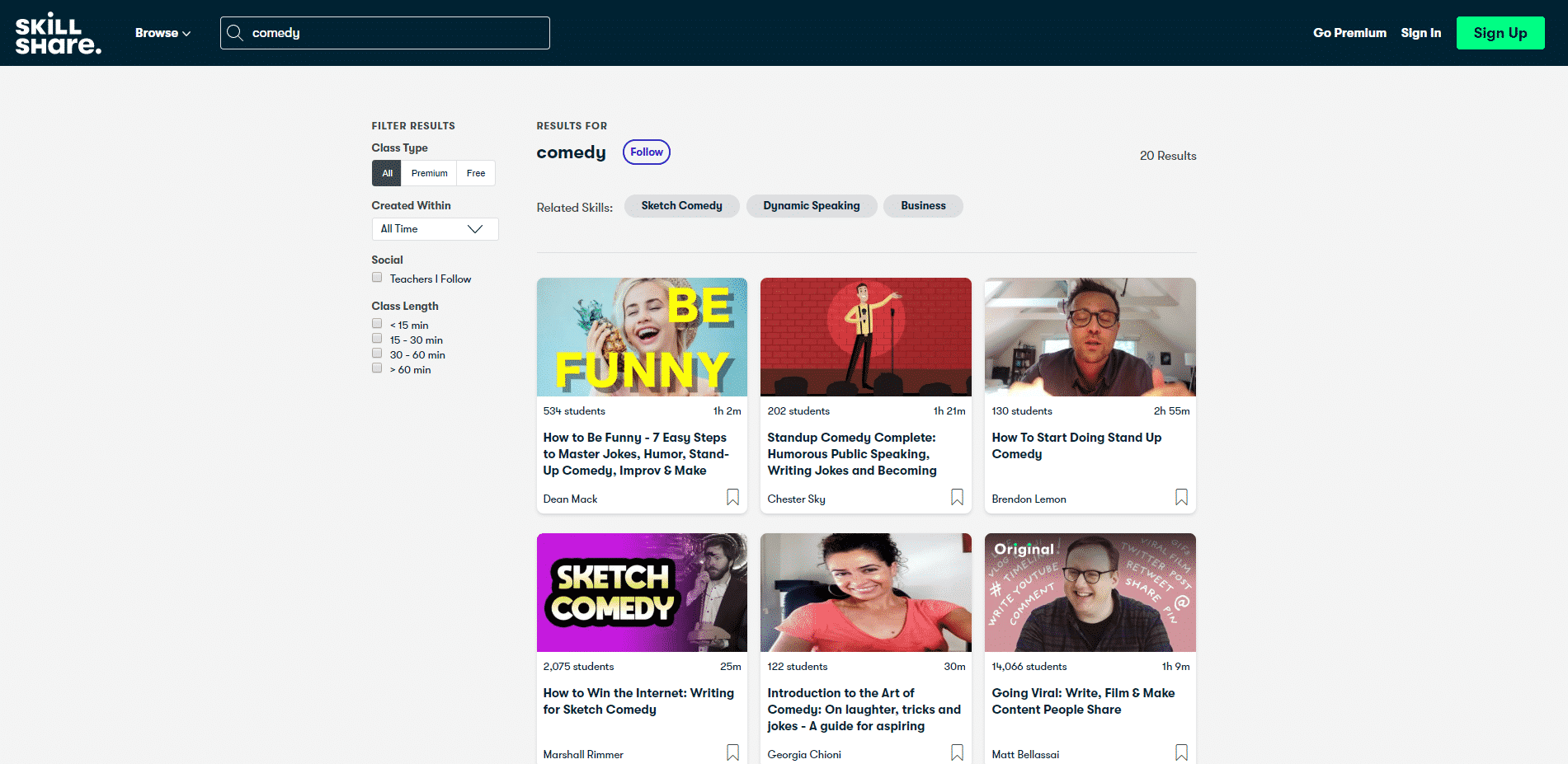 Skillshare Learn Comedy Lessons Online