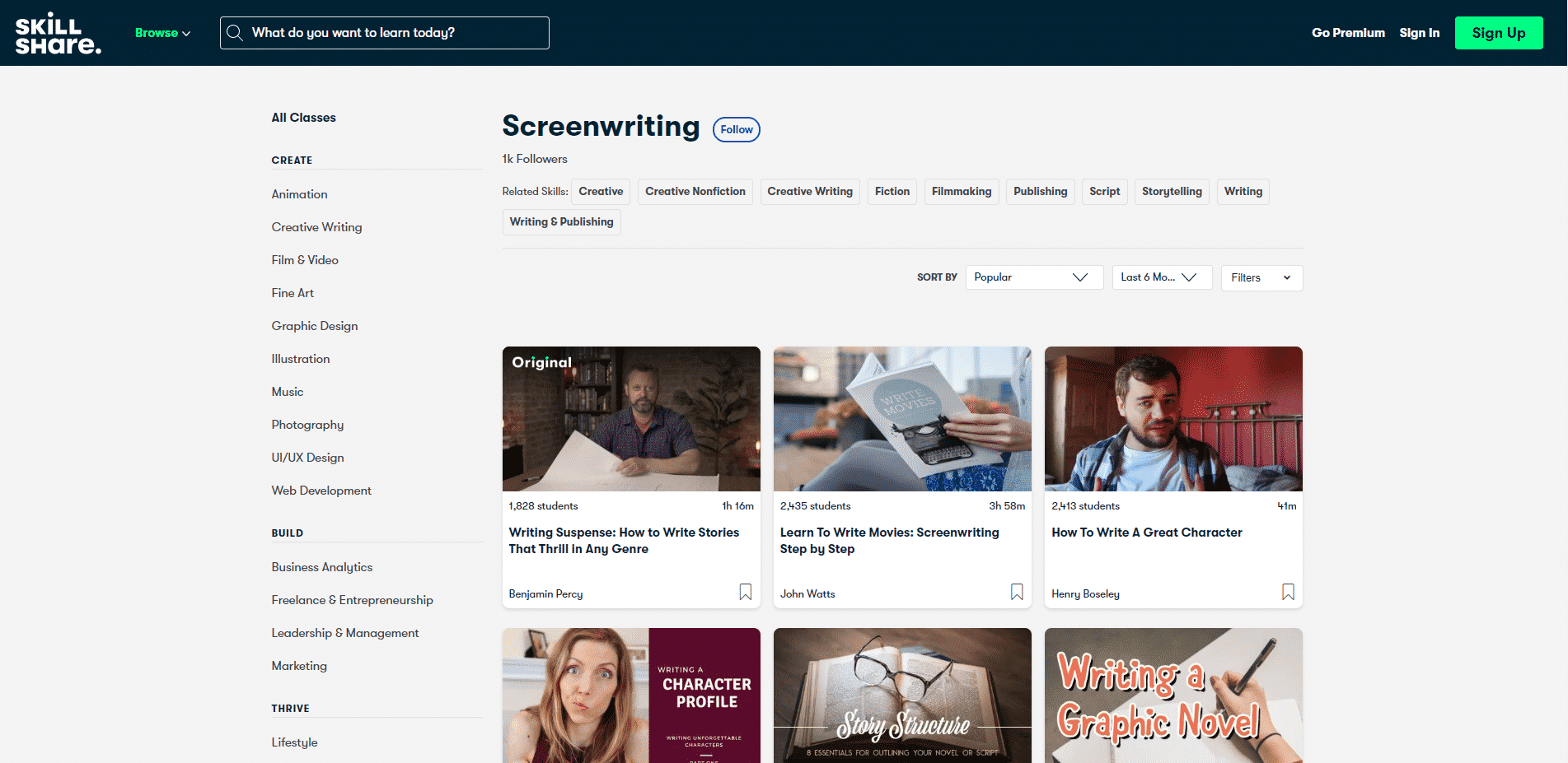 Skillshare Learn Screenwriting Lessons Online