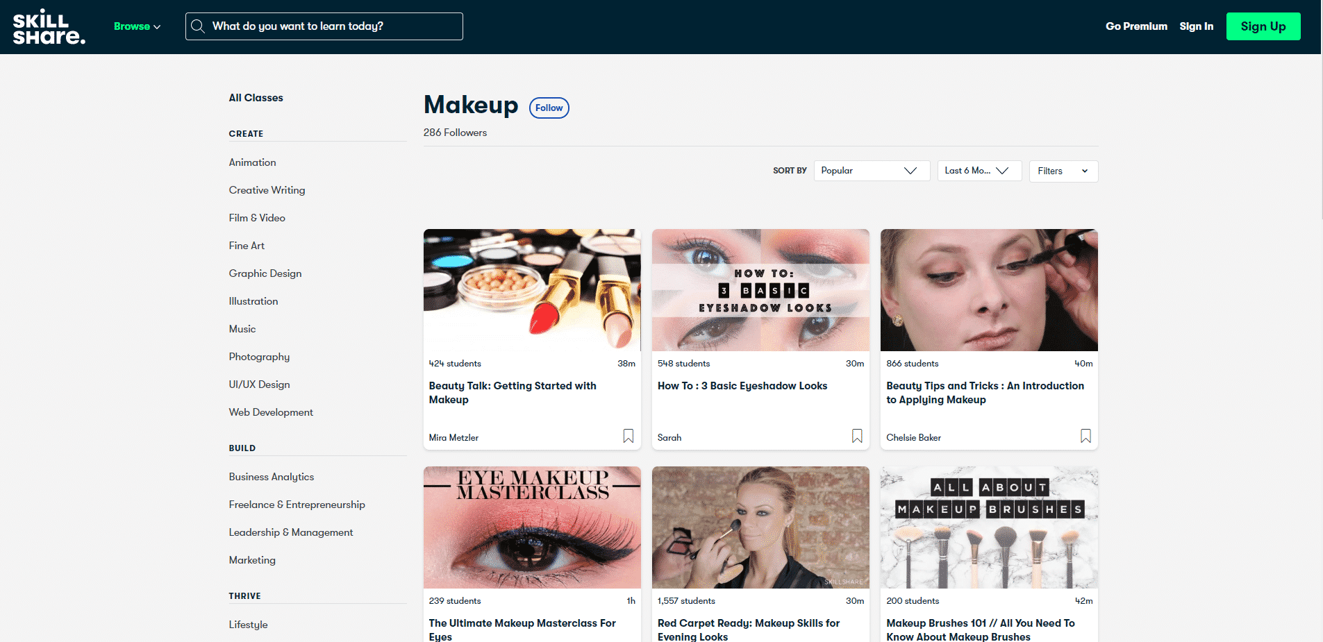 Skillshhare Learn Makeup and Beauty Lessons Online
