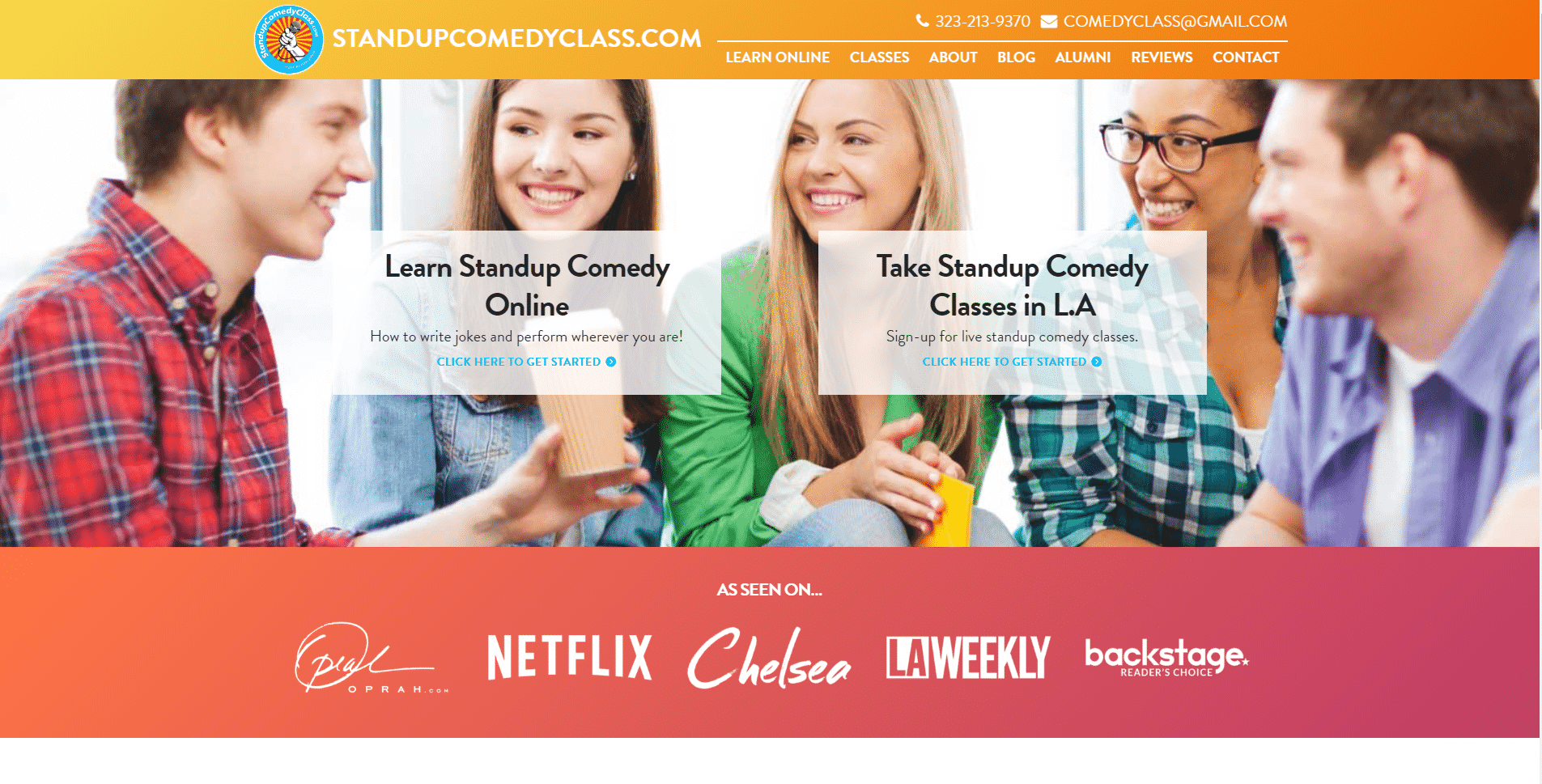 Stand-up Learn Comedy Lessons Online