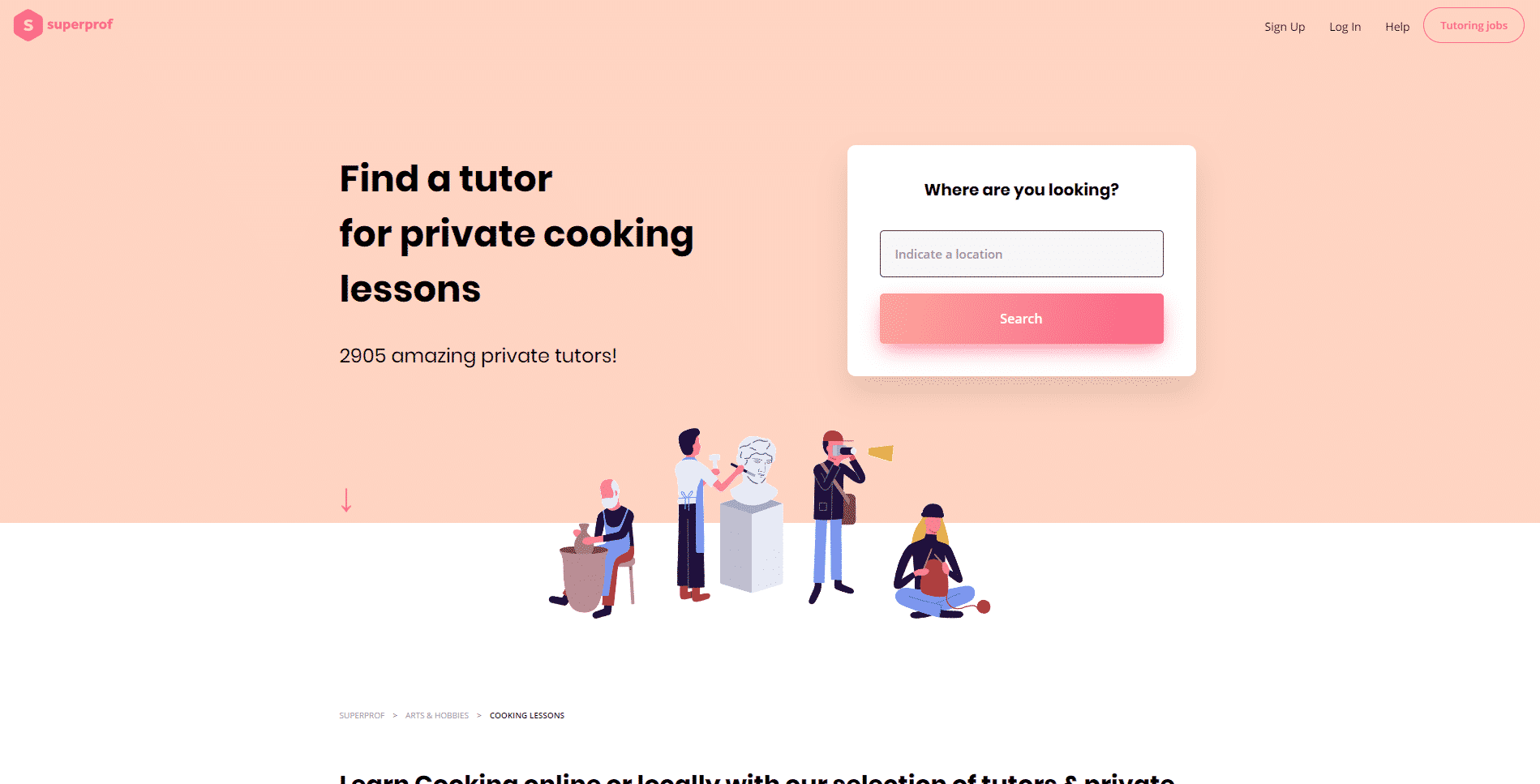 Super Prof Learn Cooking Lessons Online