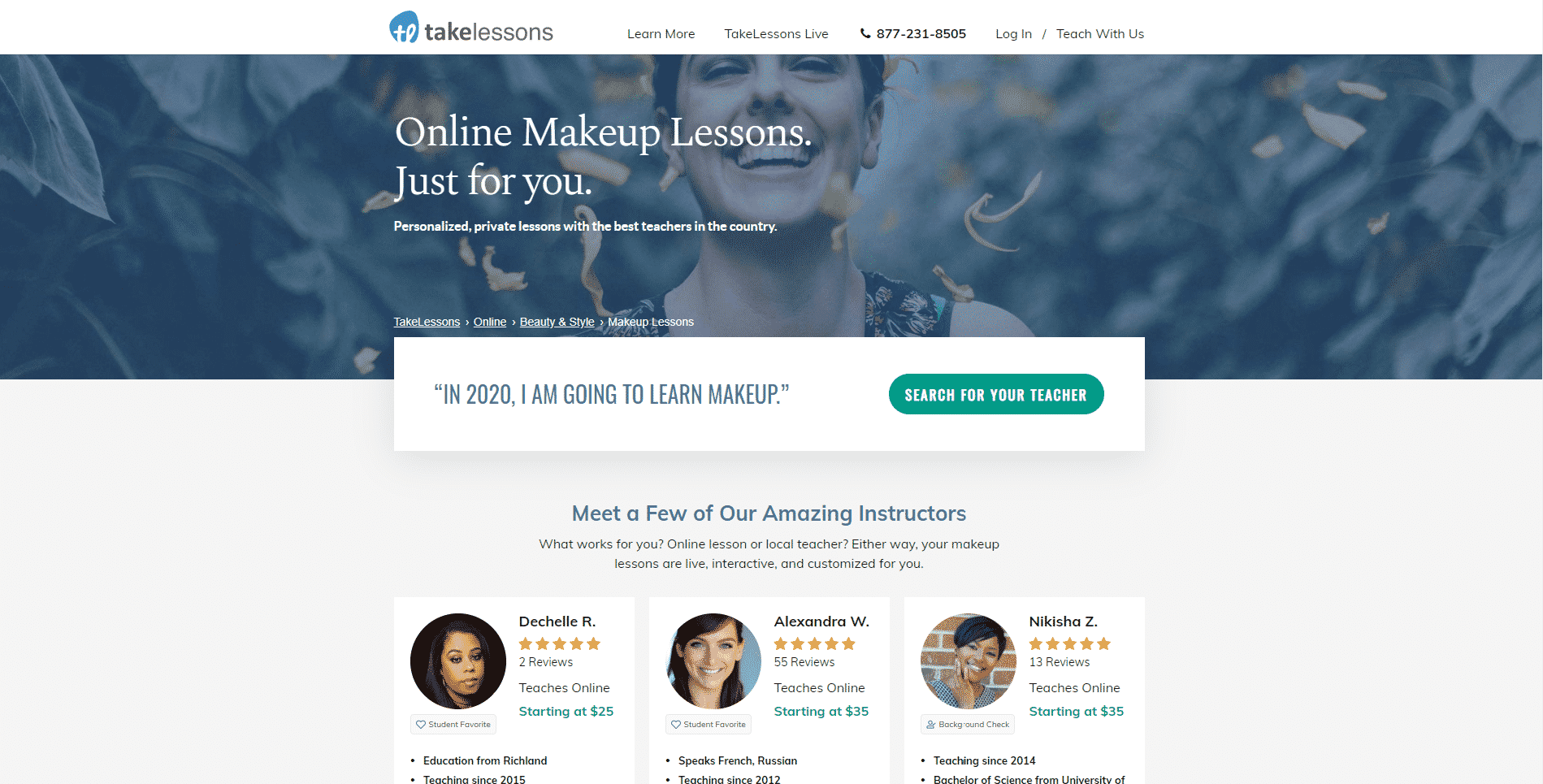 Takelessons Learn Makeup and Beauty Lessons Online