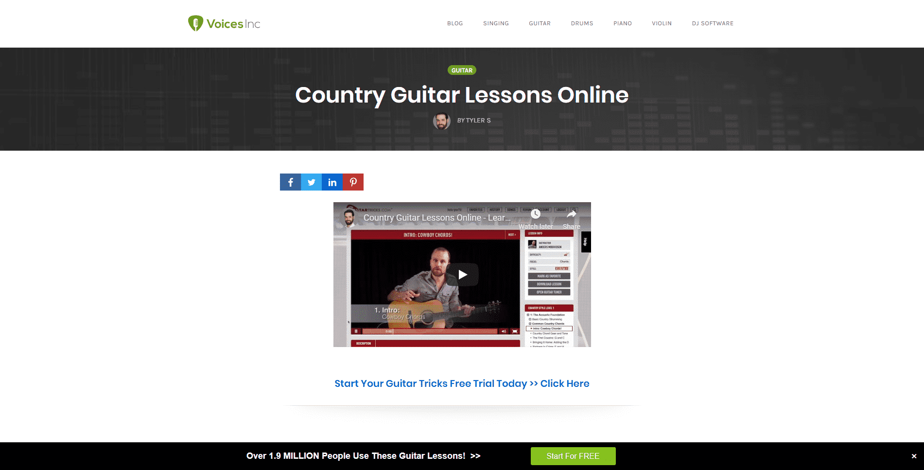 Voice Inc. – Country Guitar Lessons Online