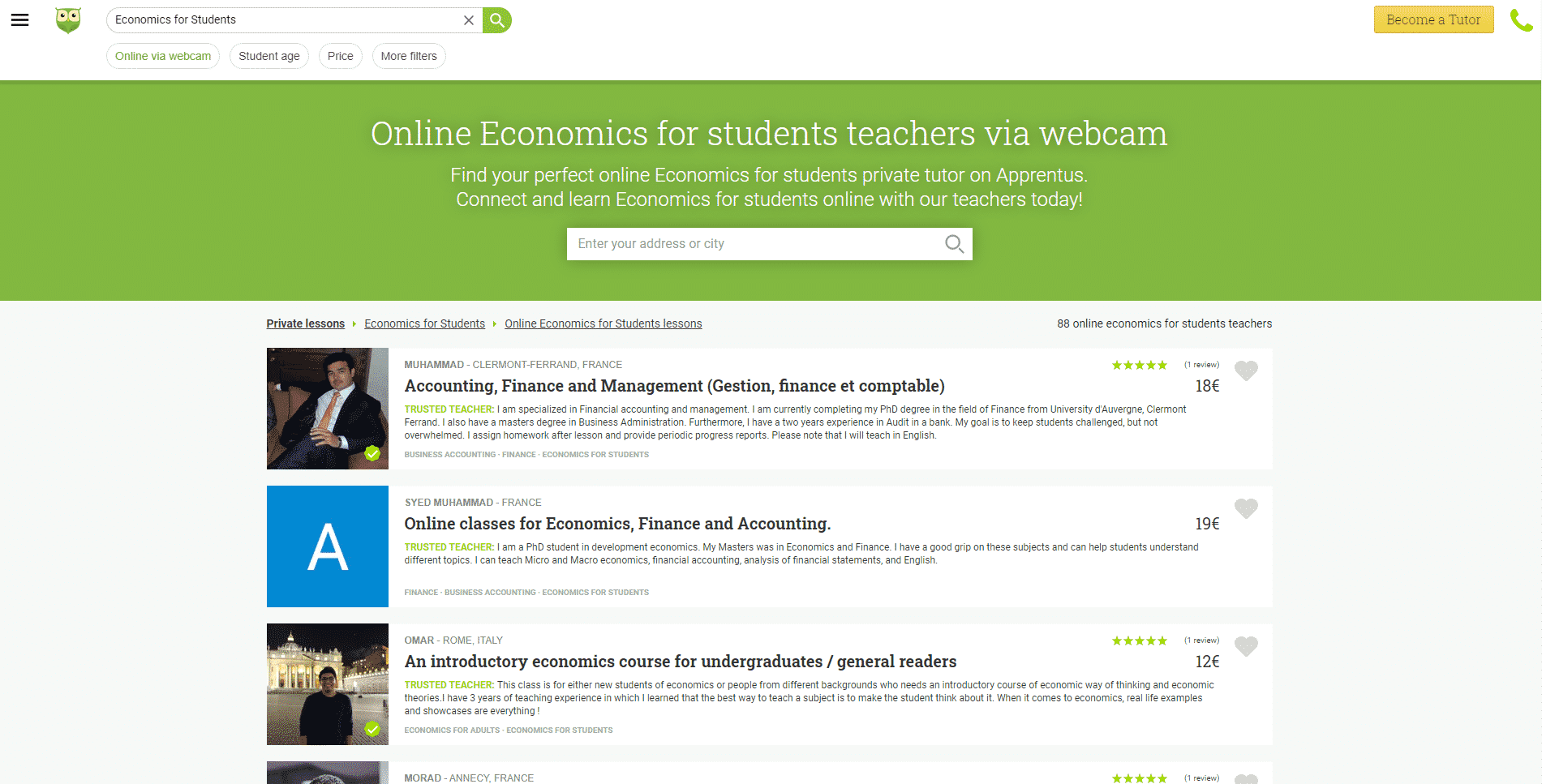 Apprentus Learn Economic Lessons Online
