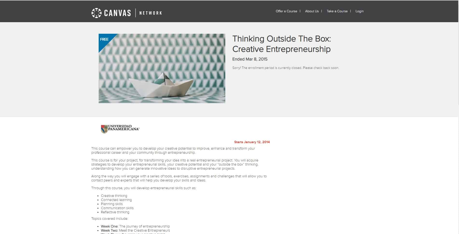 Canvas Learn Entrepreneurship Lessons Online