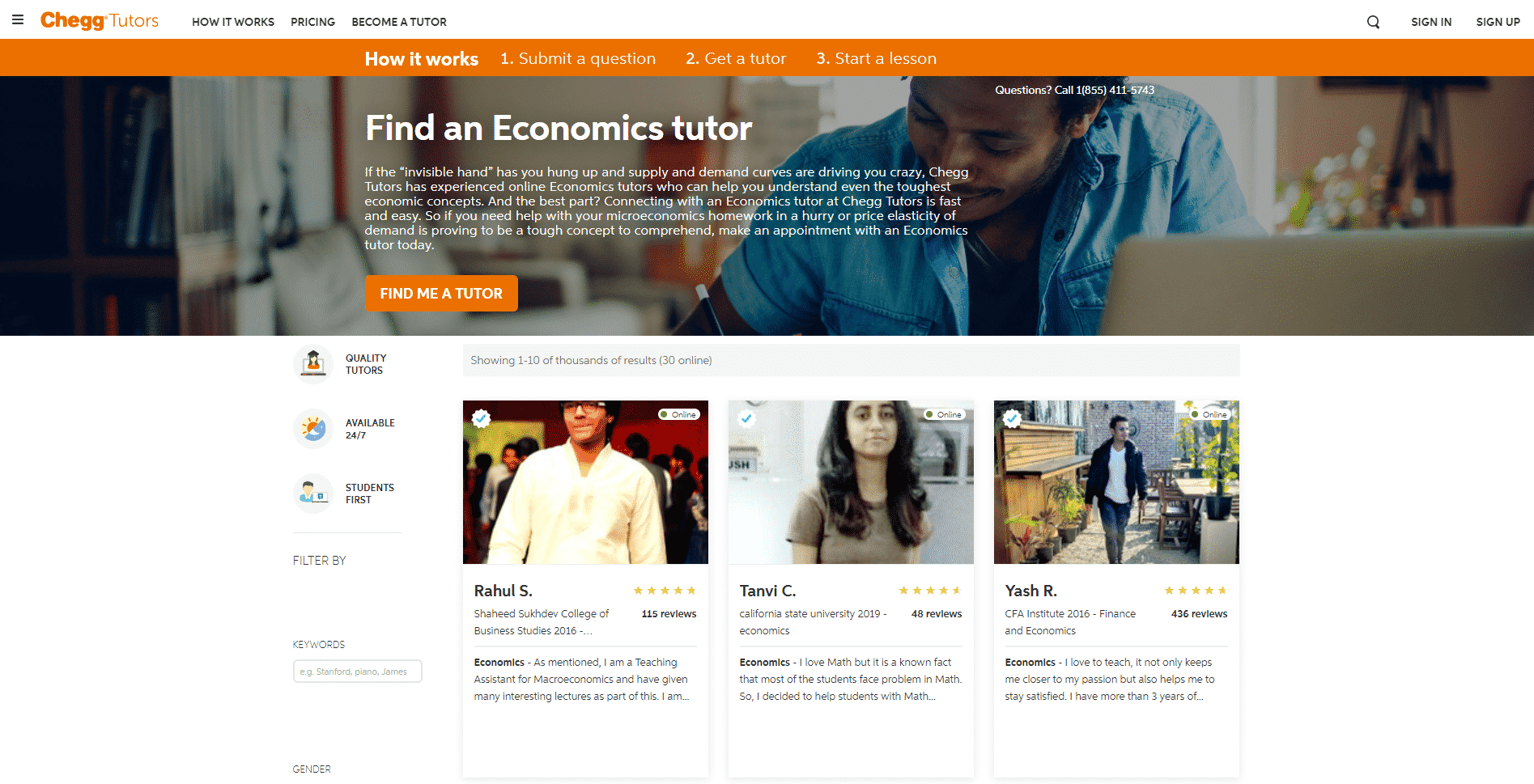 Chegg Learn Economic Lessons Online
