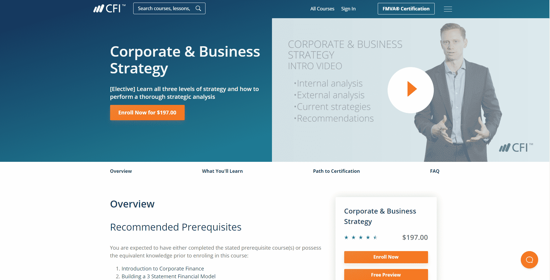 Corporate Finance Institute Learn Business Strategy Lessons Online