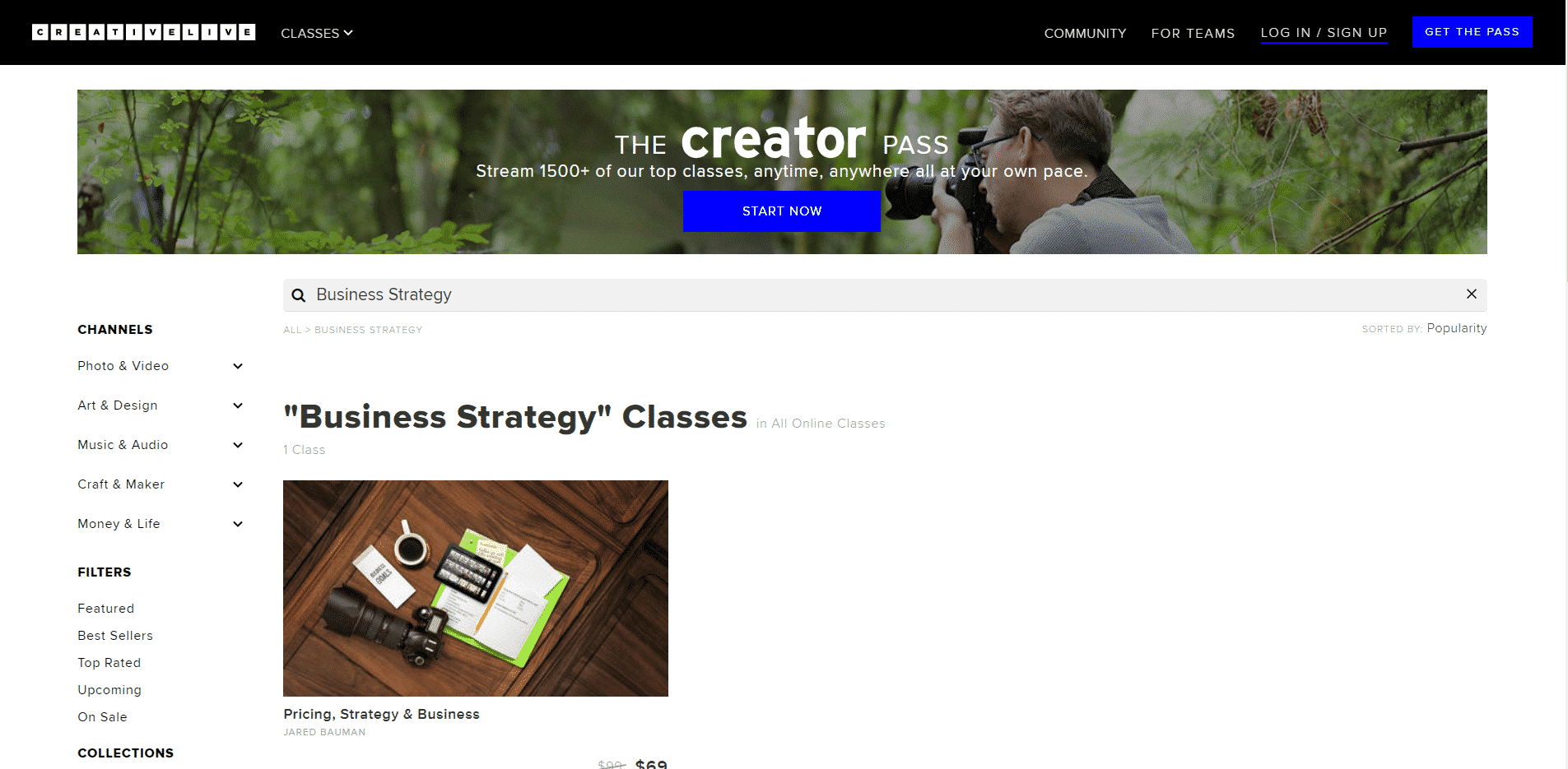 Creativelive Learn Business Strategy Lessons Online