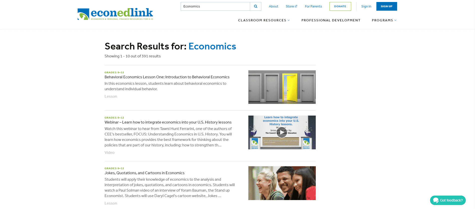 EconedLink Learn Economic Lessons Online
