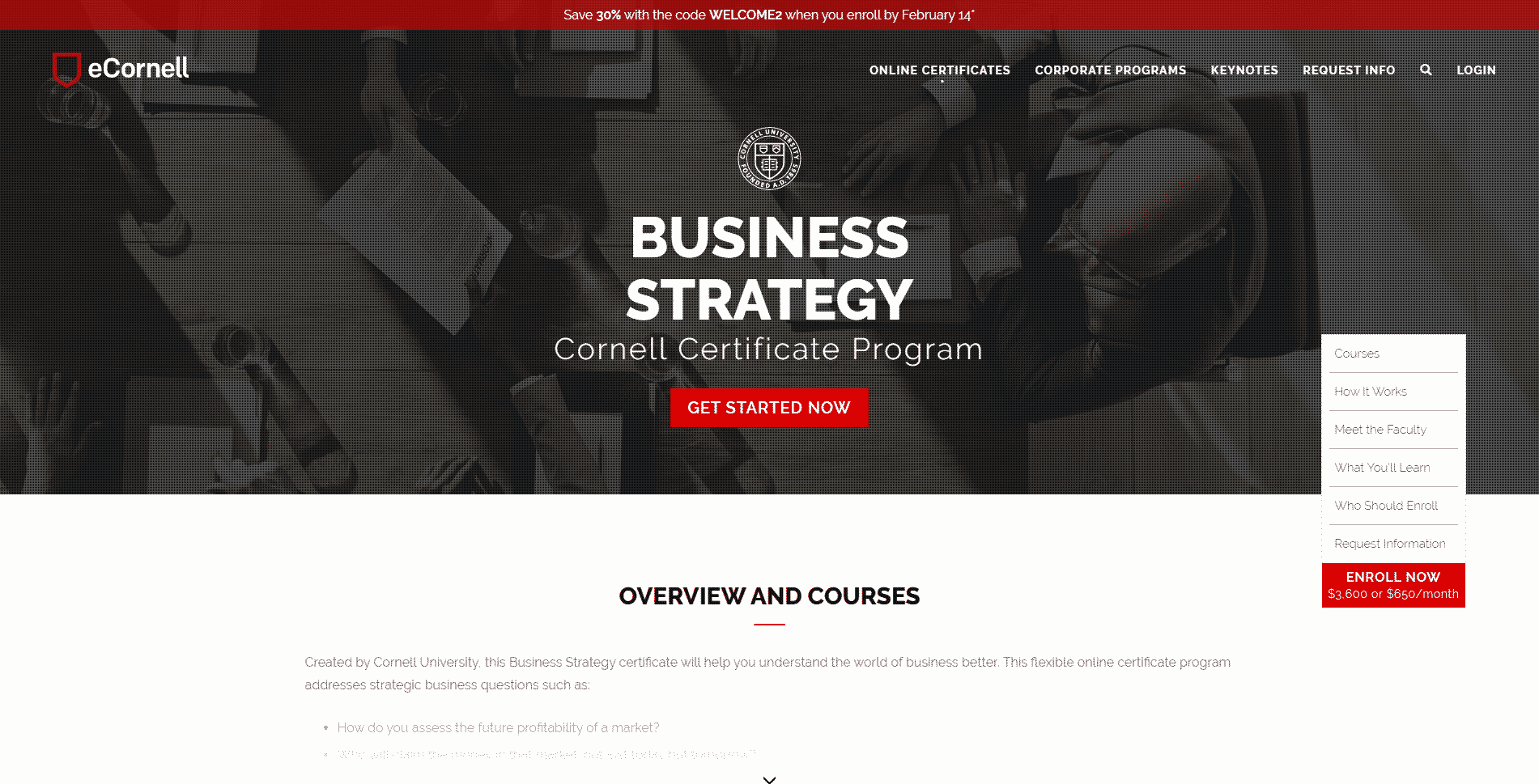 Ecornell Learn Business Strategy Lessons Online