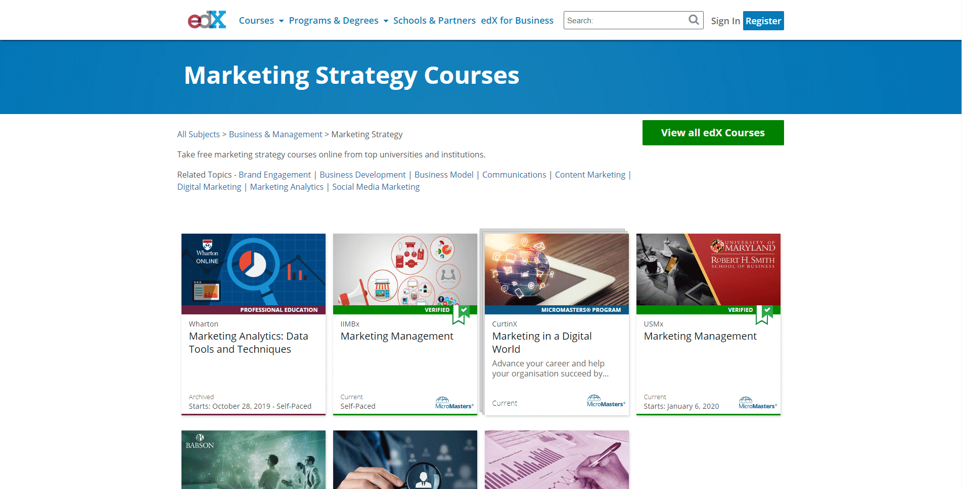 EdX Learn Campaign and Marketing Strategy Lessons Online