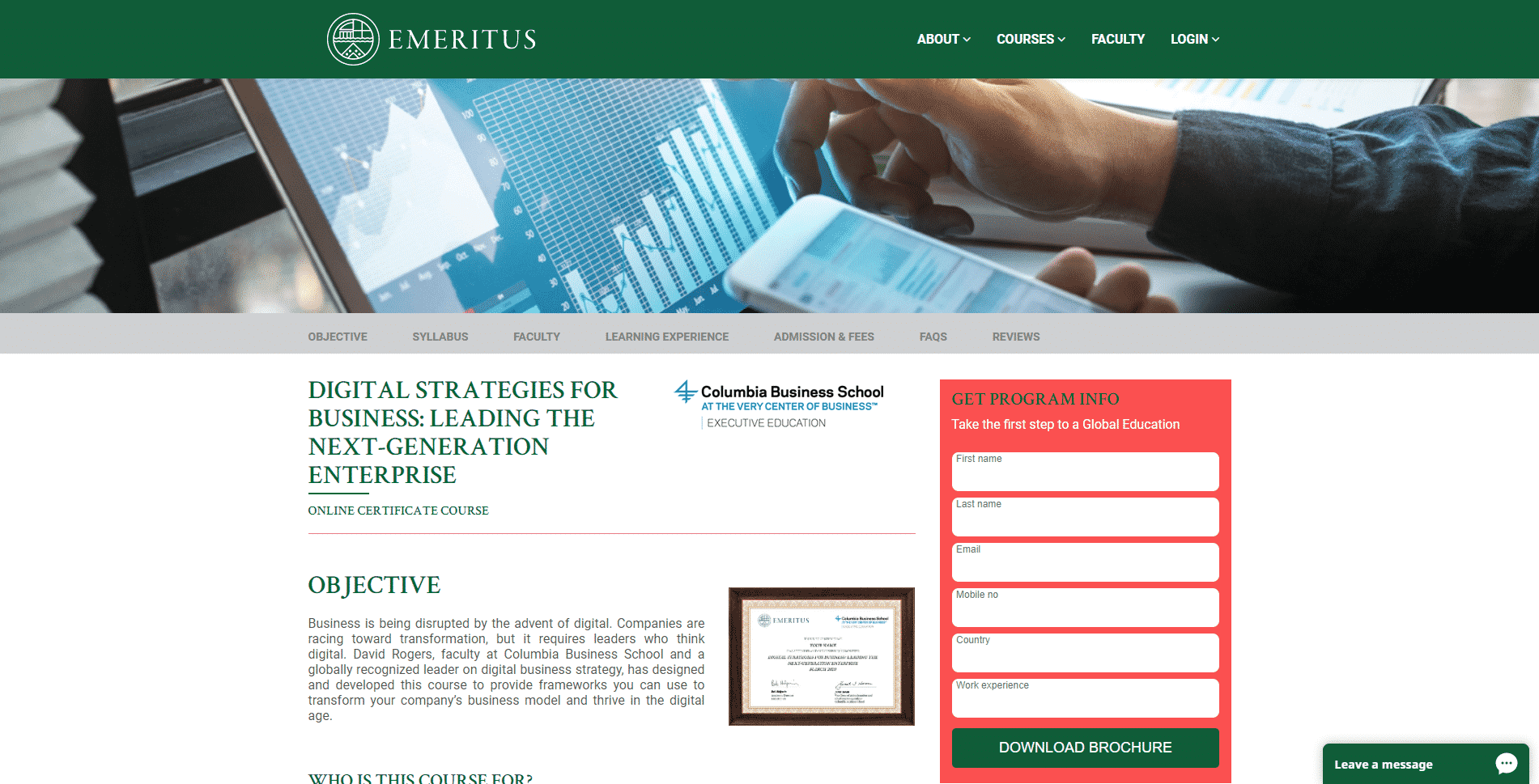Emeritus Learn Business Strategy Lessons Online