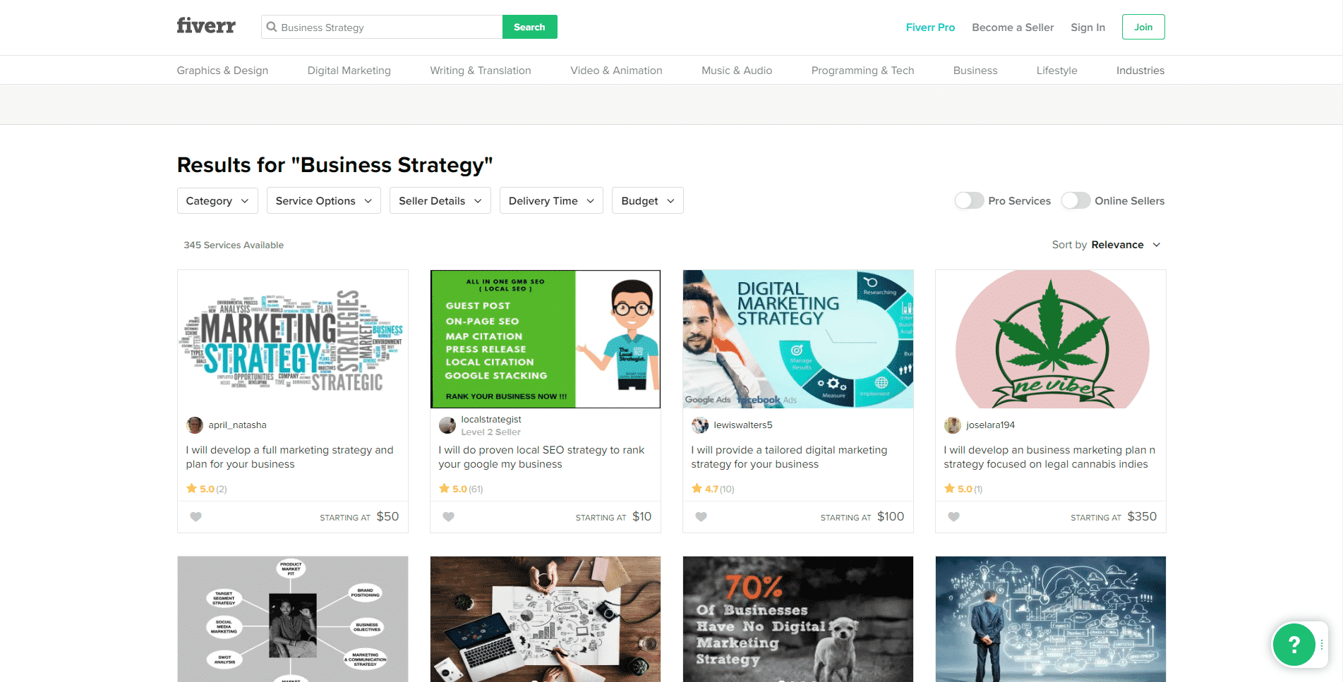 Fiverr Learn Business Strategy Lessons Online
