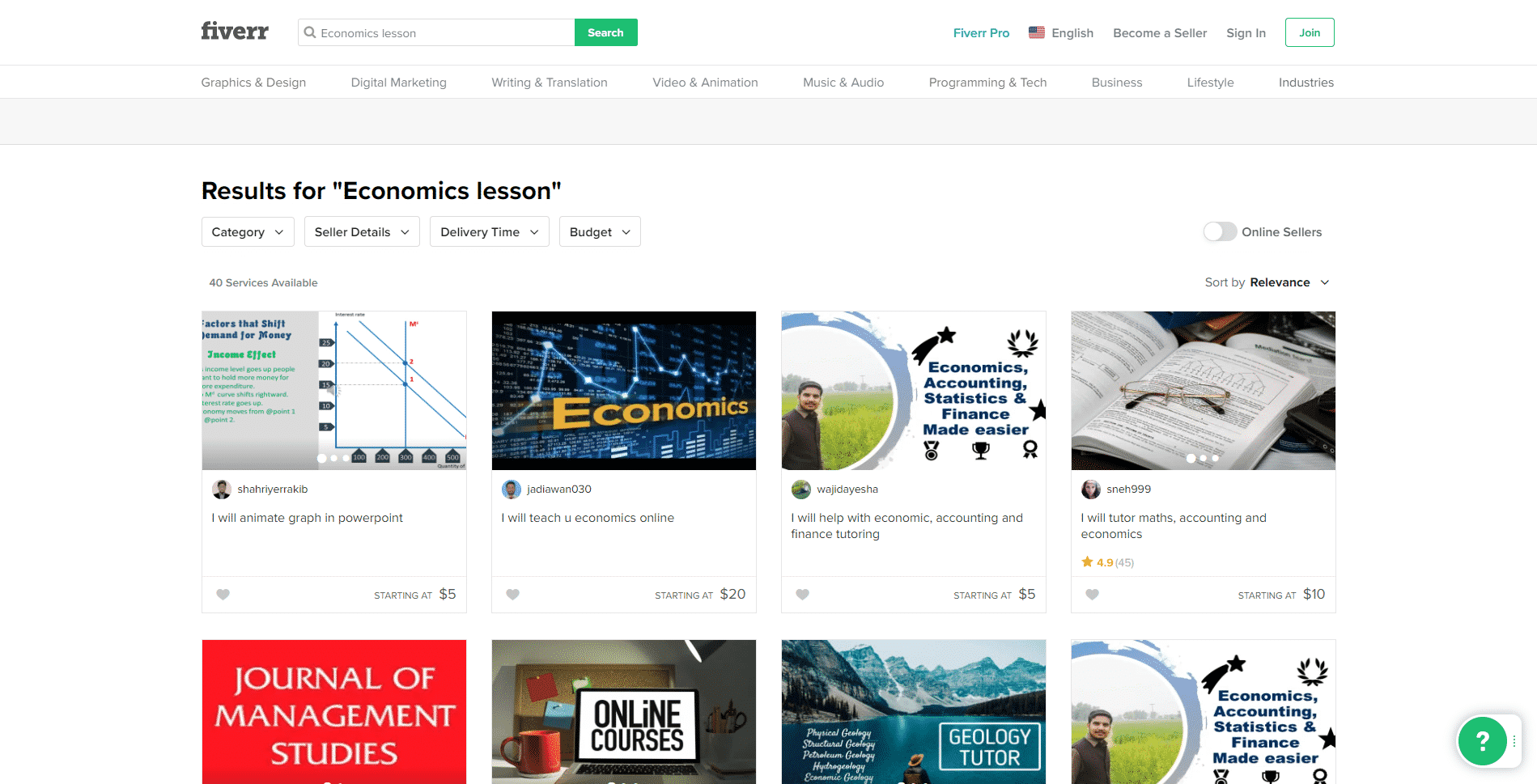 Fiverr Learn Economic Lessons Online