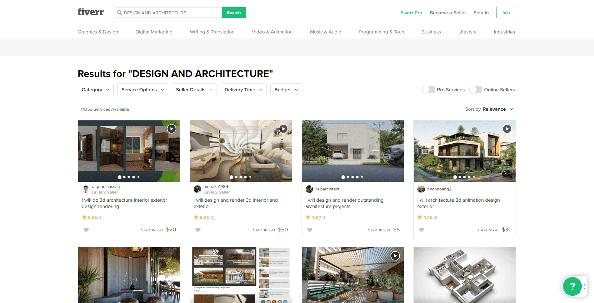 Fiverr.com Learn Design and Architecture Lessons Online