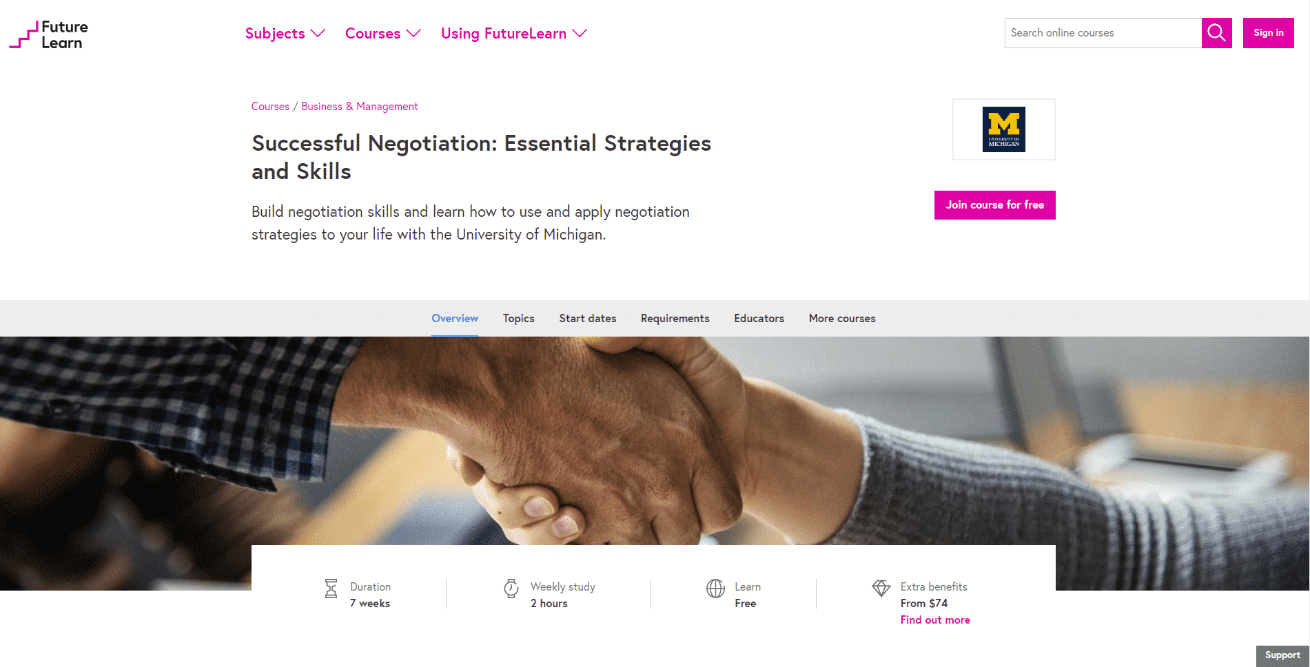 Future Learn Learn Negotiation Lessons Online
