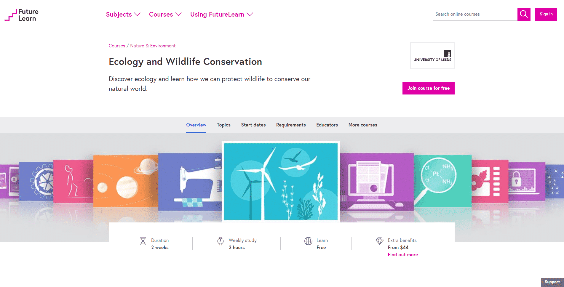 FutureLearn Learn Conservation Lessons Online
