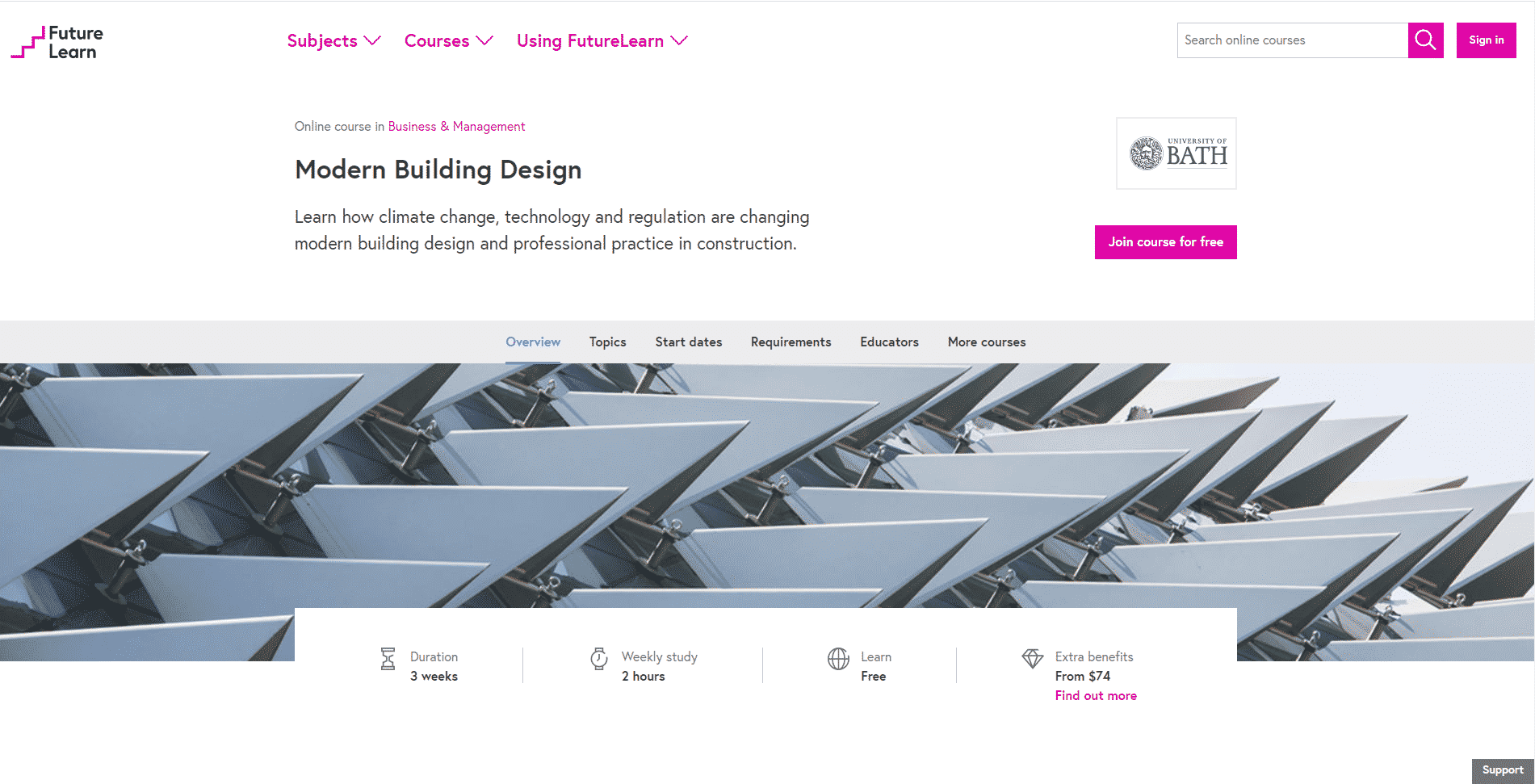 Futurelearn Learn Design and Architecture Lessons Online