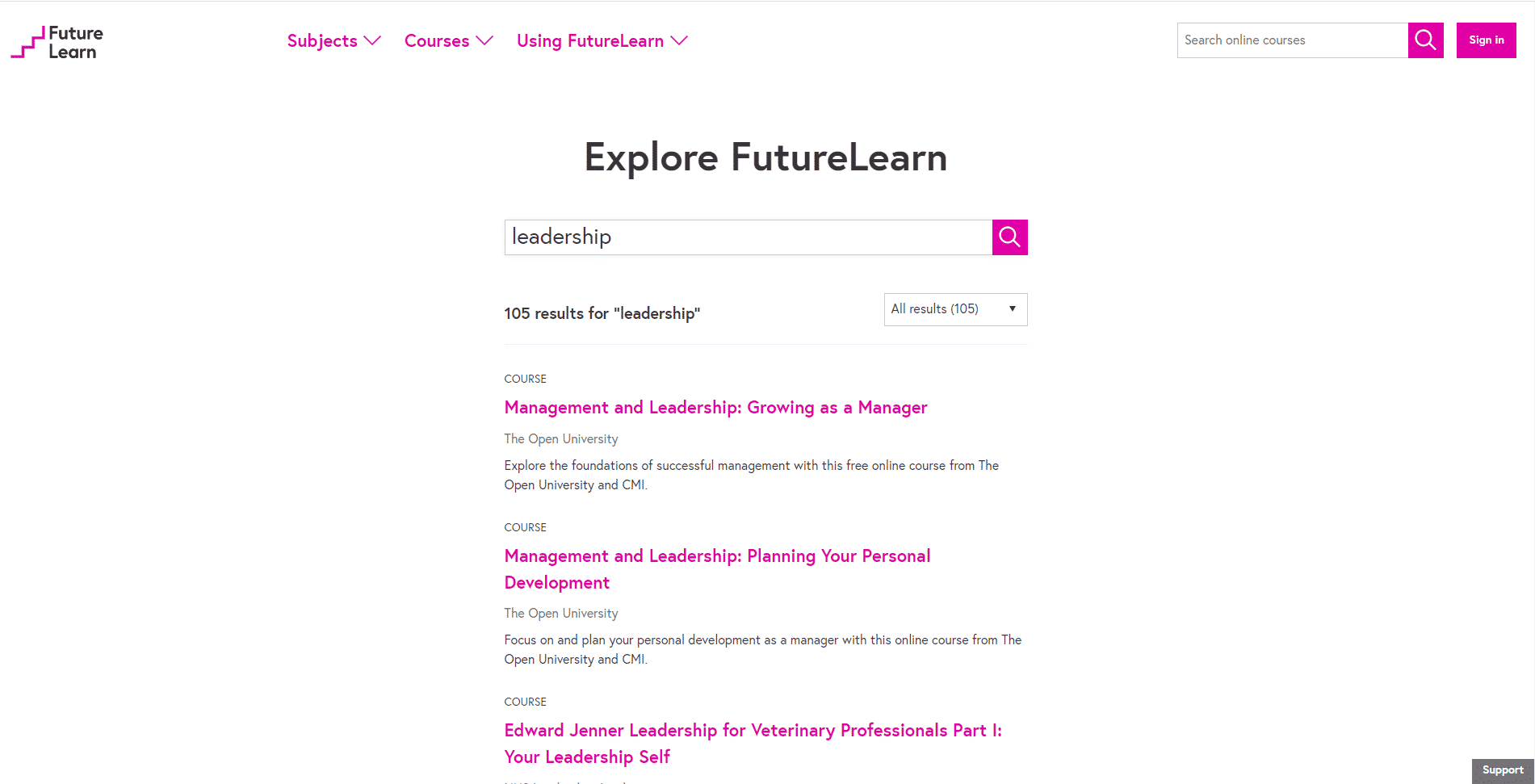 Futurelearn Learn Leadership Lessons Online