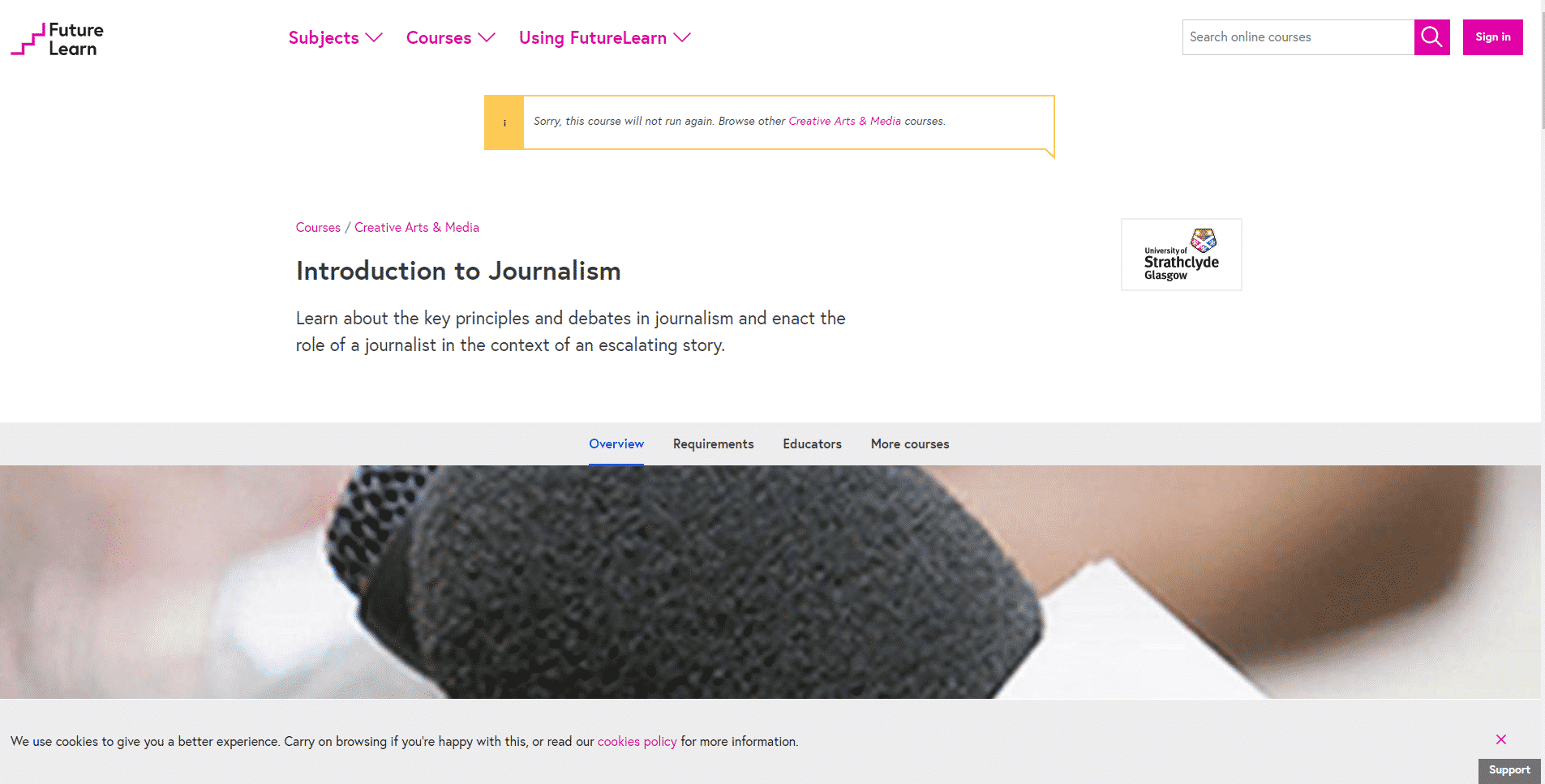 Futurelearn.com Learn Journalism Lessons Online