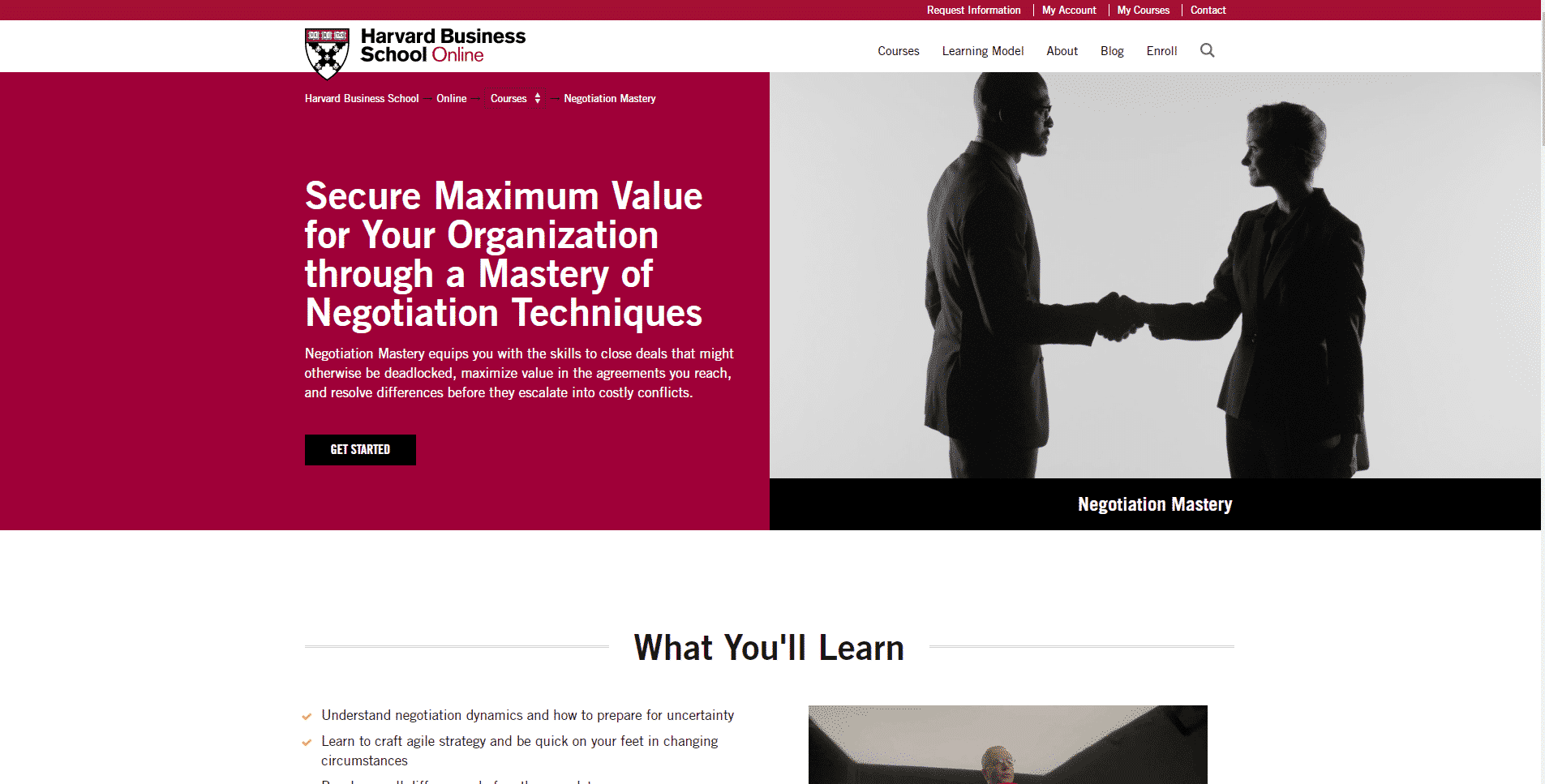 Harvard Business School Online Learn Negotiation Lessons Online