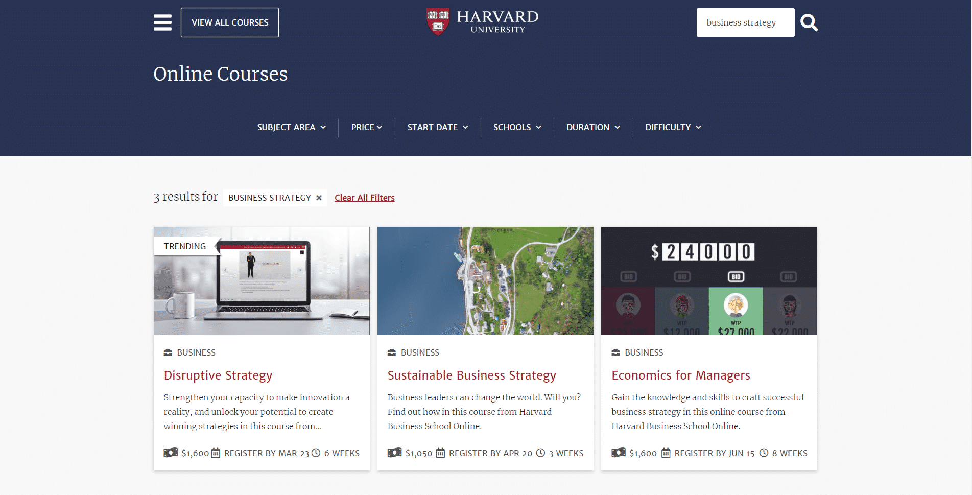 Harvard Education Learn Business Strategy Lessons Online