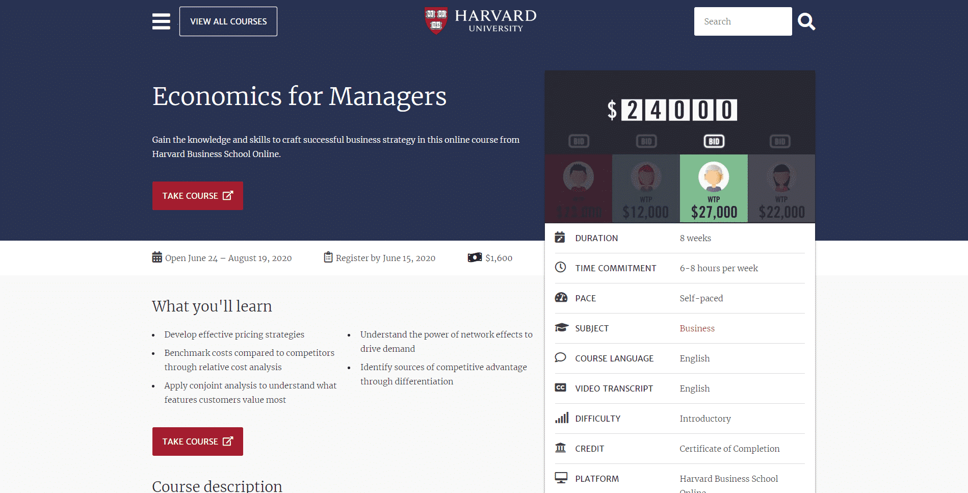 Harvard Learn Economic Lessons Online