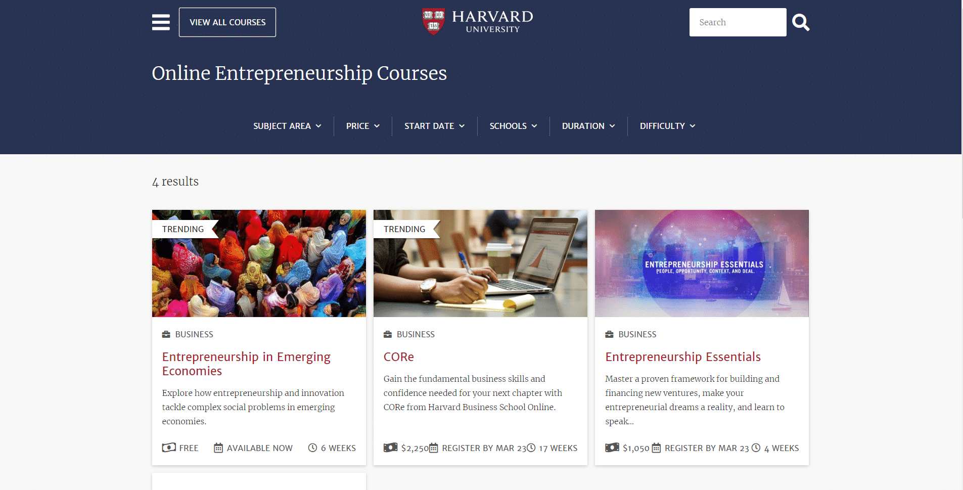 Harvard Learn Entrepreneurship Lessons Online