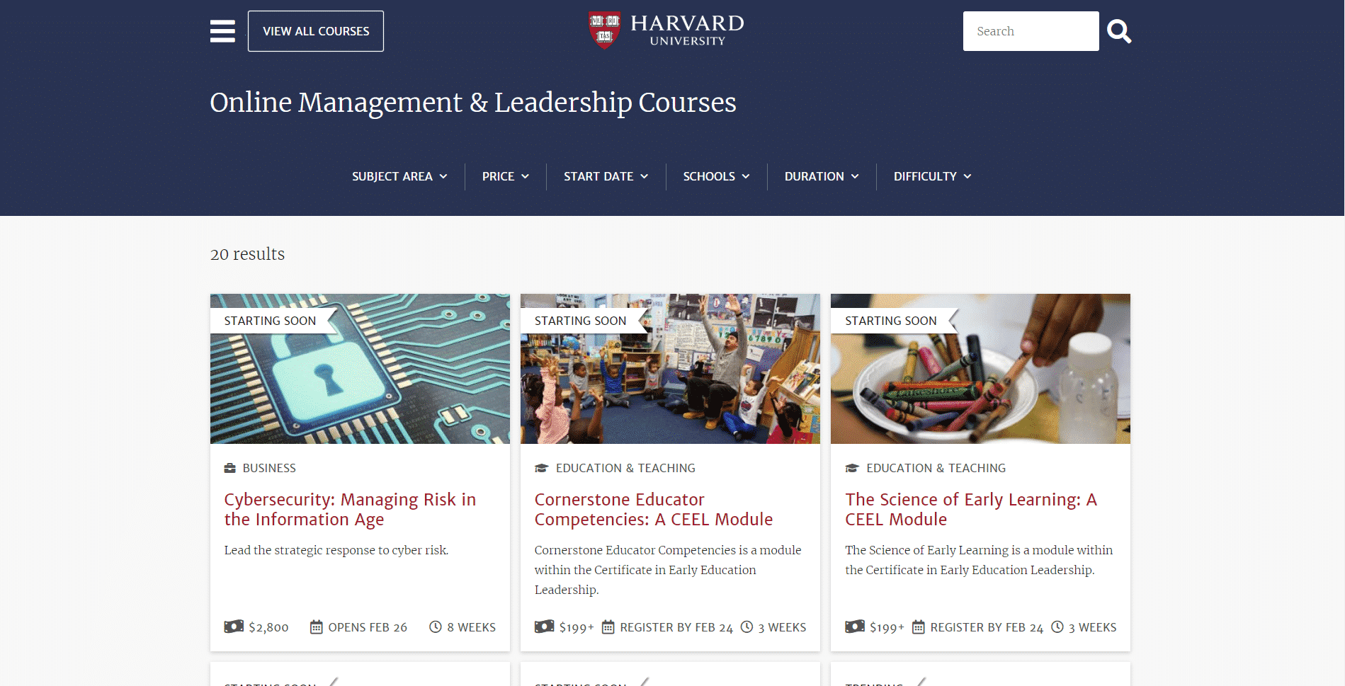 Harvard Learn Leadership Lessons Online