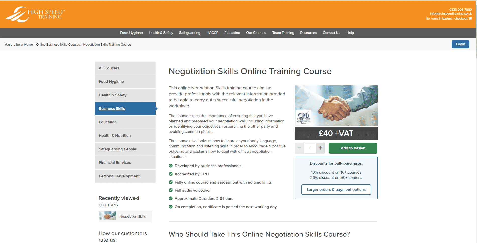High Speed Training Learn Negotiation Lessons Online